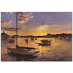 Coastal Wall Art Harbor 1 - Boats Decor on Metal or Plexiglass