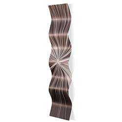 Tantalum Wave 9.5x44in. Metal Eclectic Decor