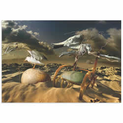 Desert Life by Radoslav Penchev - Surreal Landscape Art on Metal or Acrylic