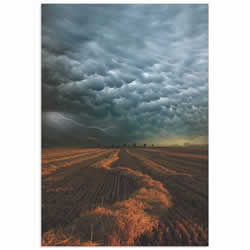Mammatus Clouds by Franz Schumacher - Storm Pictures on Metal or Acrylic