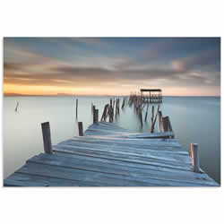 Collapsed Dock by Rui David - Beach Art on Metal or Acrylic