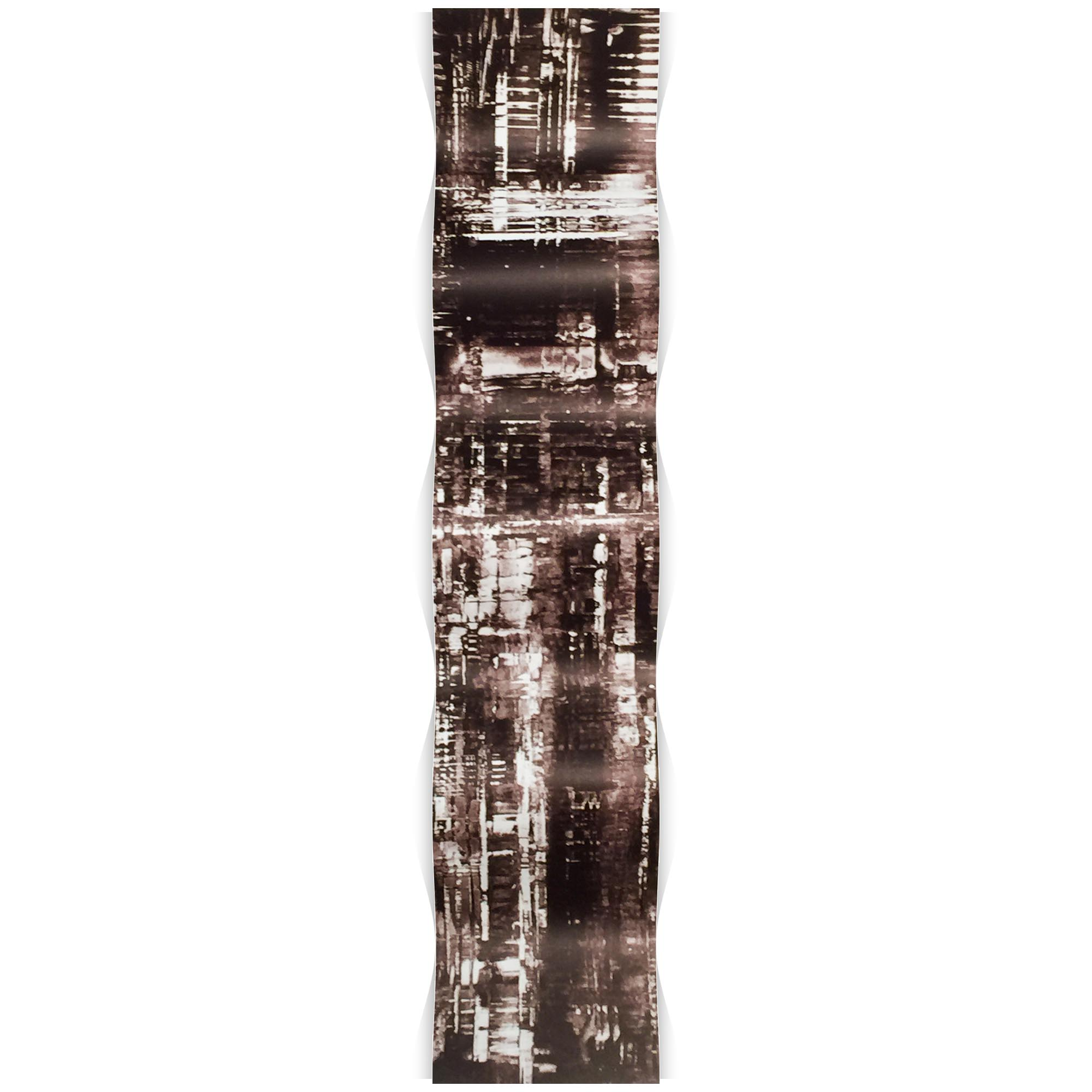 Aporia Black Wave 9.5x44in. Metal Eclectic Decor - Image 2