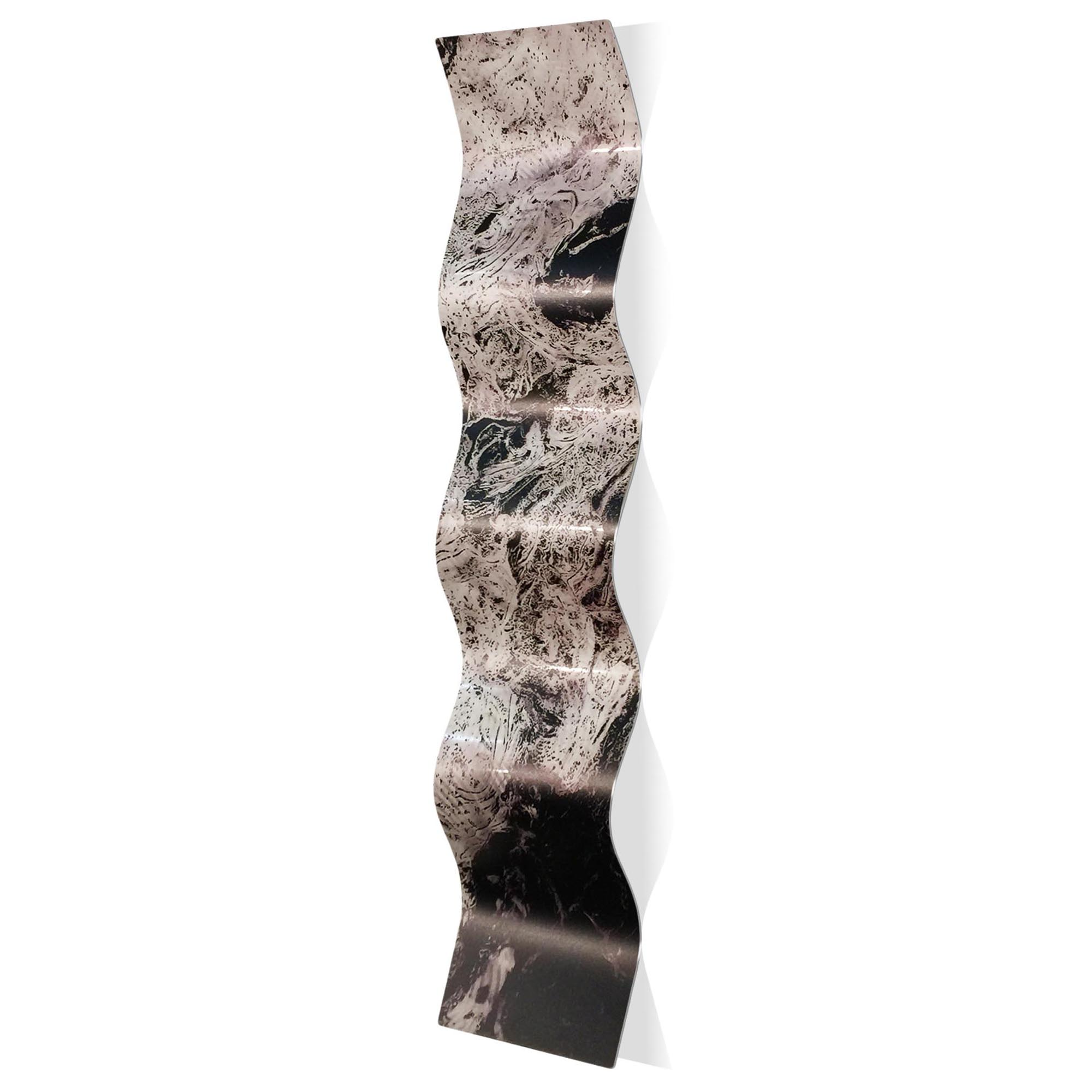 Storm Black Wave 9.5x44in. Metal Eclectic Decor