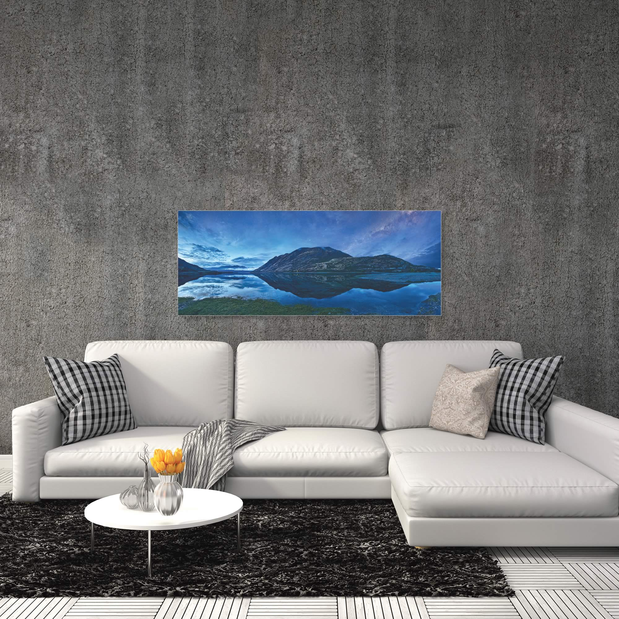 Lake Hawea by Yan Zhang - Landscape Art on Metal or Acrylic - Alternate View 1