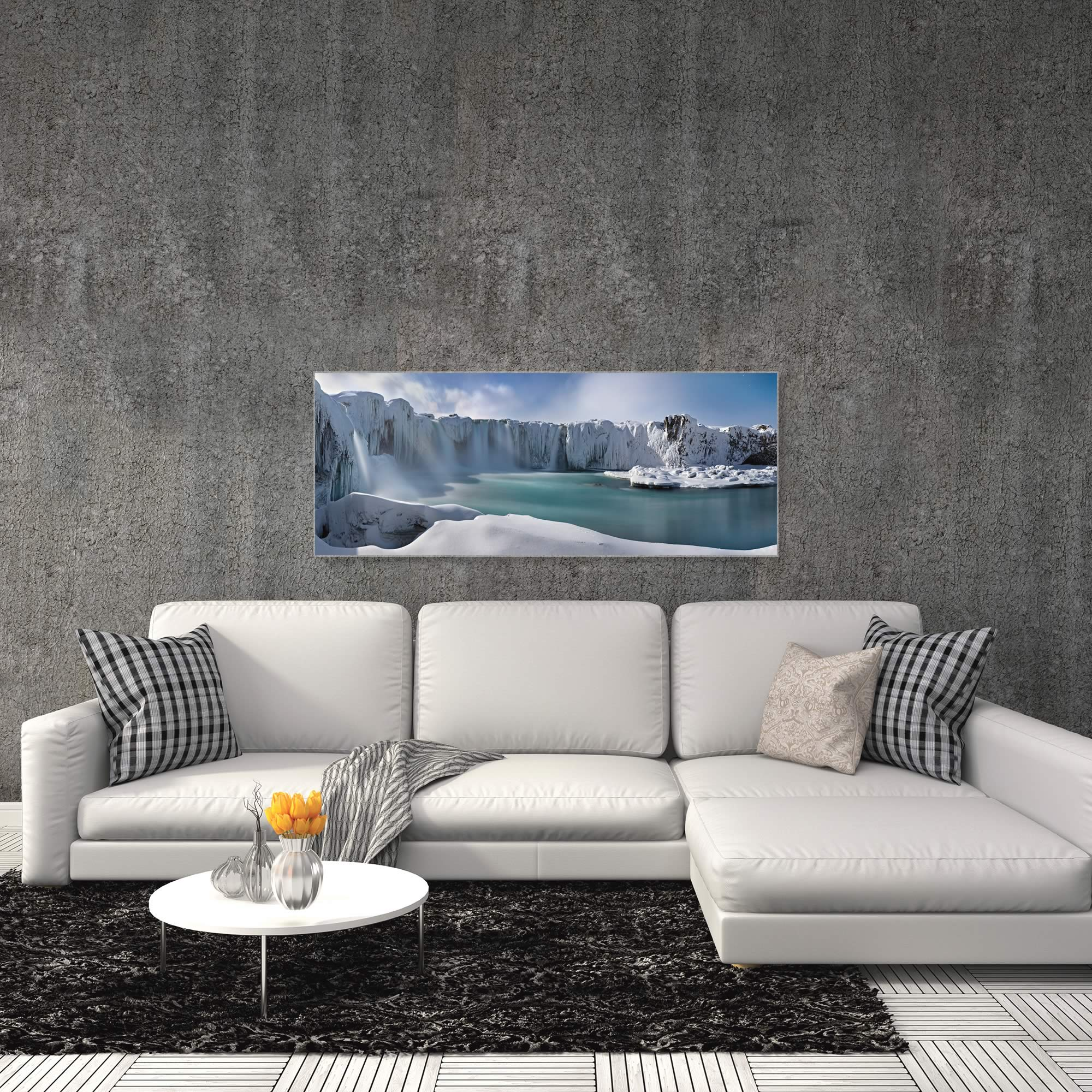 A Dream in the Moonlight by Valeriy Shcherbina - Snowy Landscape Art on Metal or Acrylic - Alternate View 3