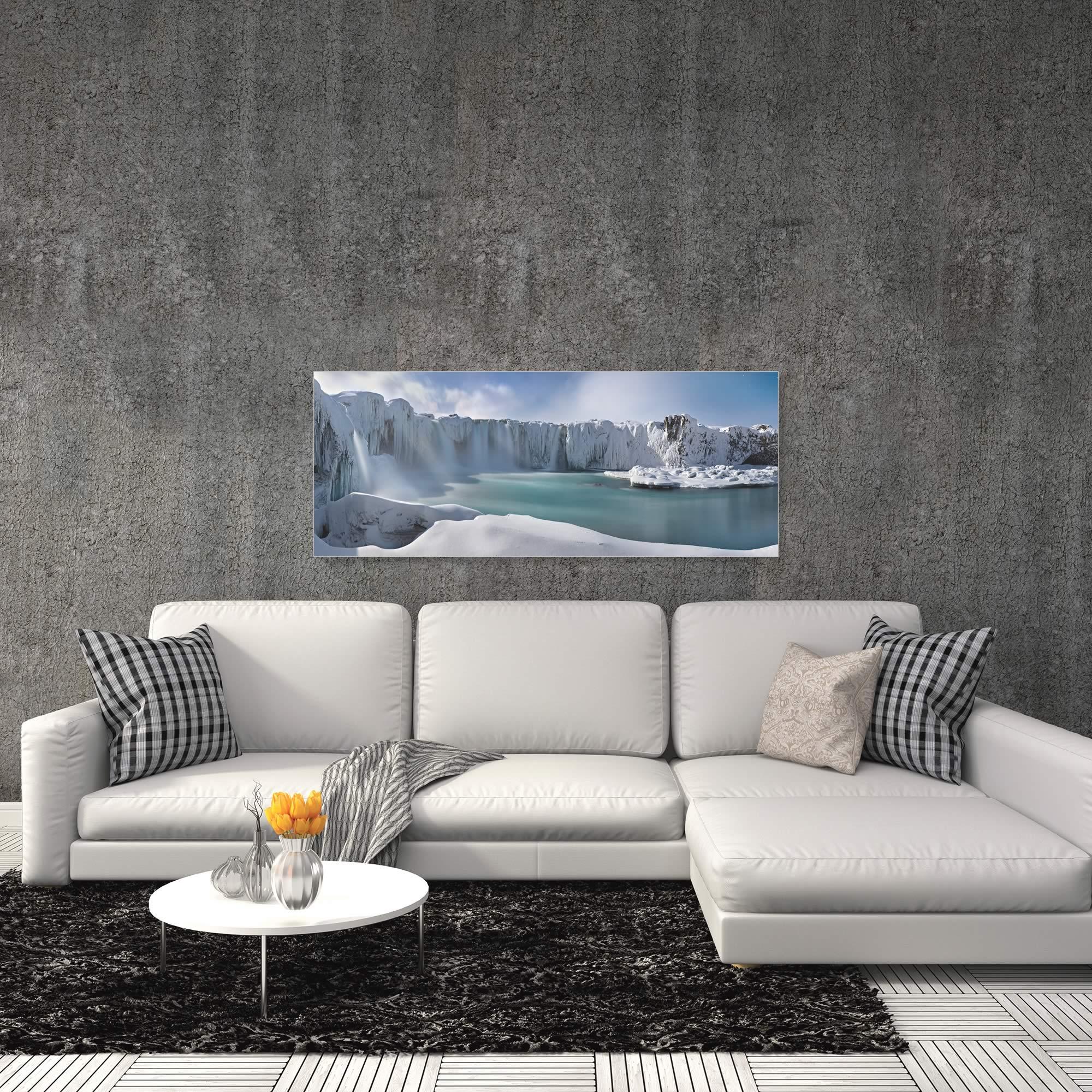 A Dream in the Moonlight by Valeriy Shcherbina - Snowy Landscape Art on Metal or Acrylic - Alternate View 1