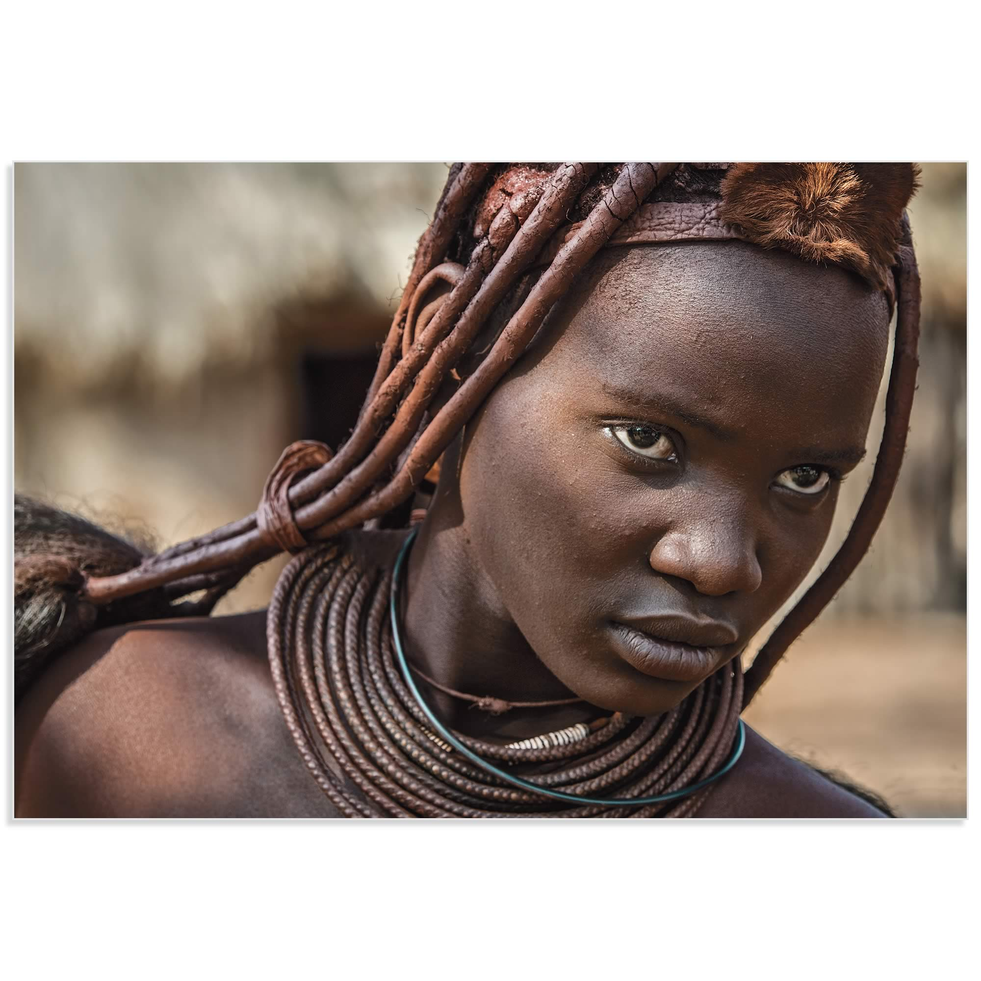 Himba Girl by Piet Flour - African Fashion Art on Metal or Acrylic - Alternate View 2