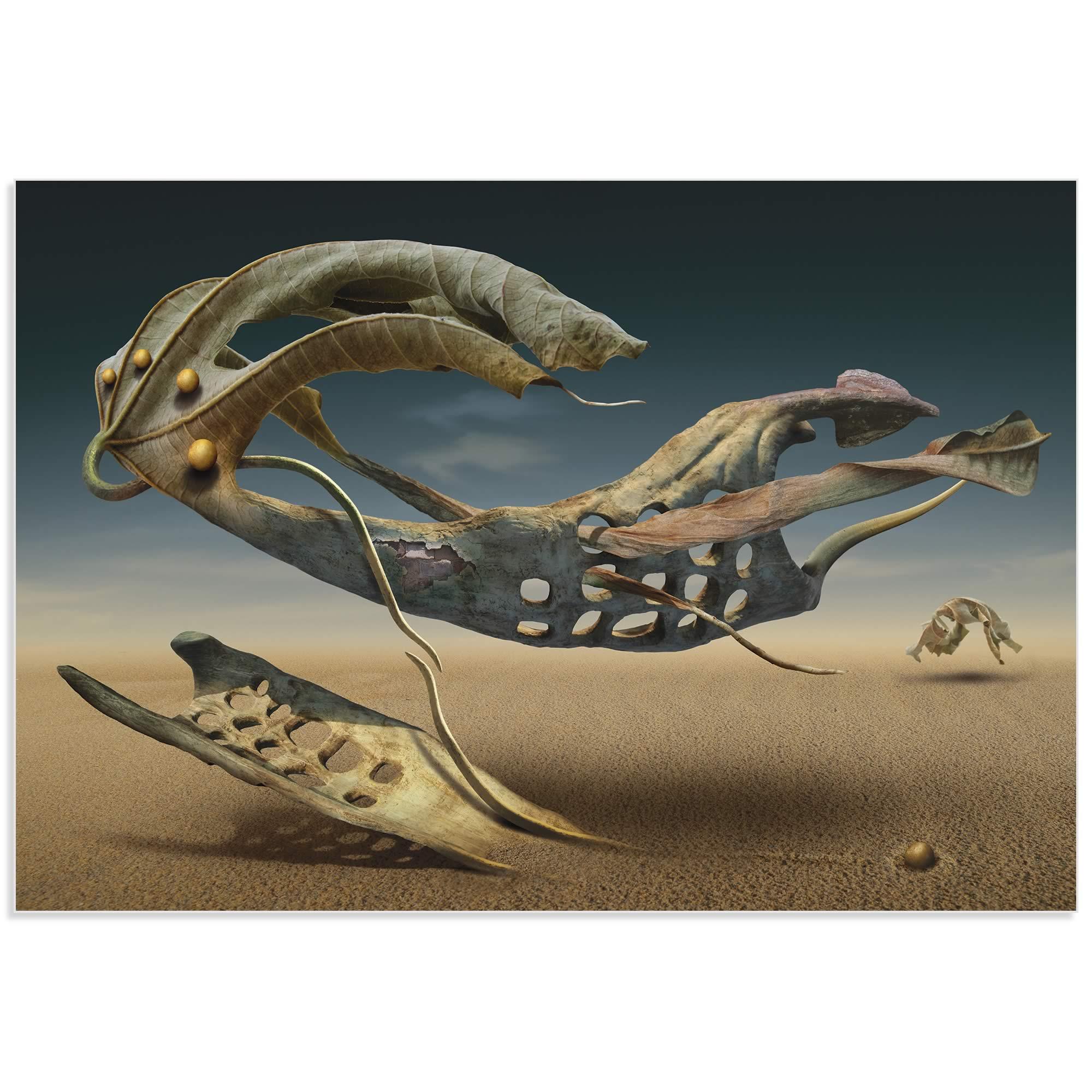 Surreal Desert by Radoslav Penchev - Surreal Landscape Art on Metal or Acrylic - Alternate View 2