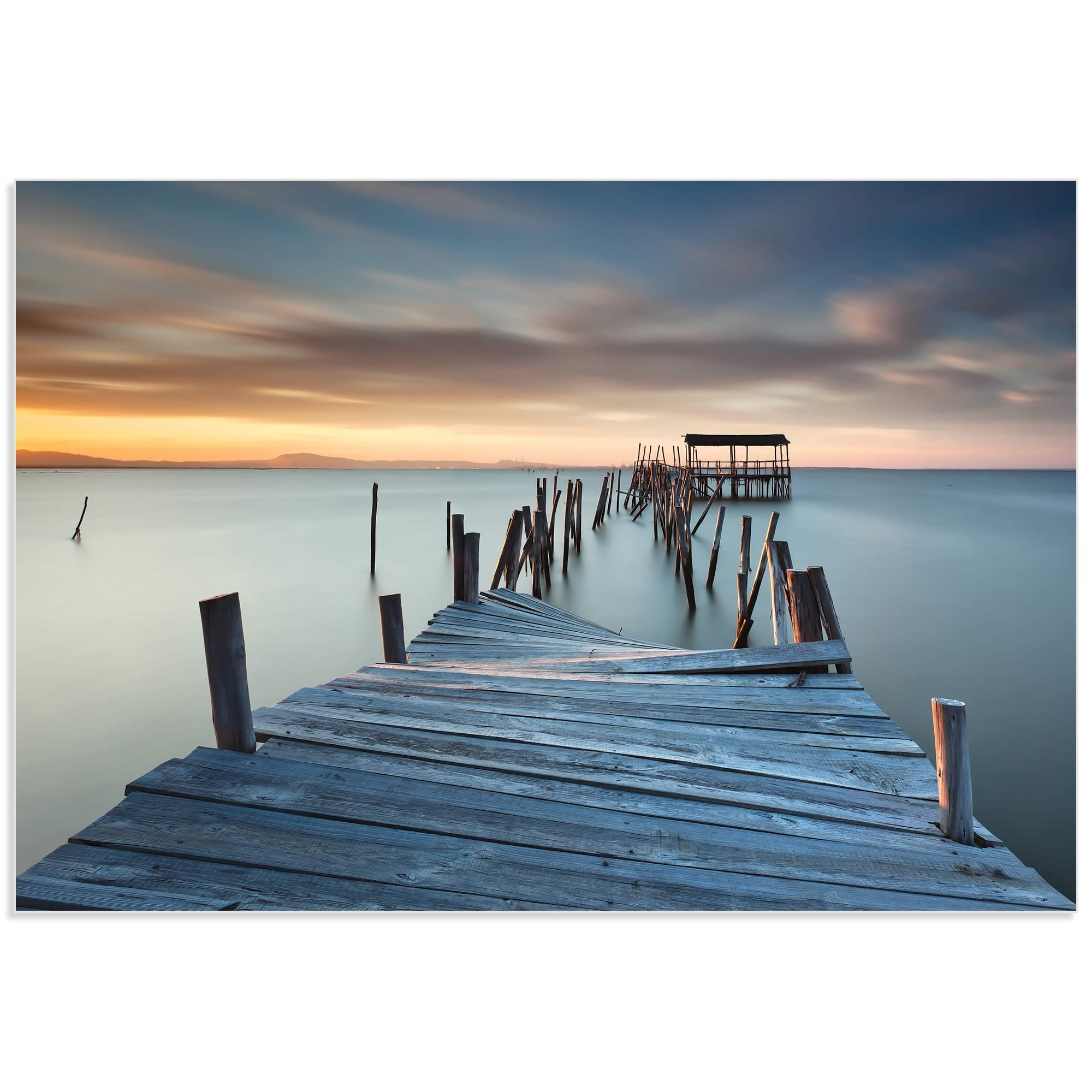 Collapsed Dock by Rui David - Beach Art on Metal or Acrylic - Alternate View 2