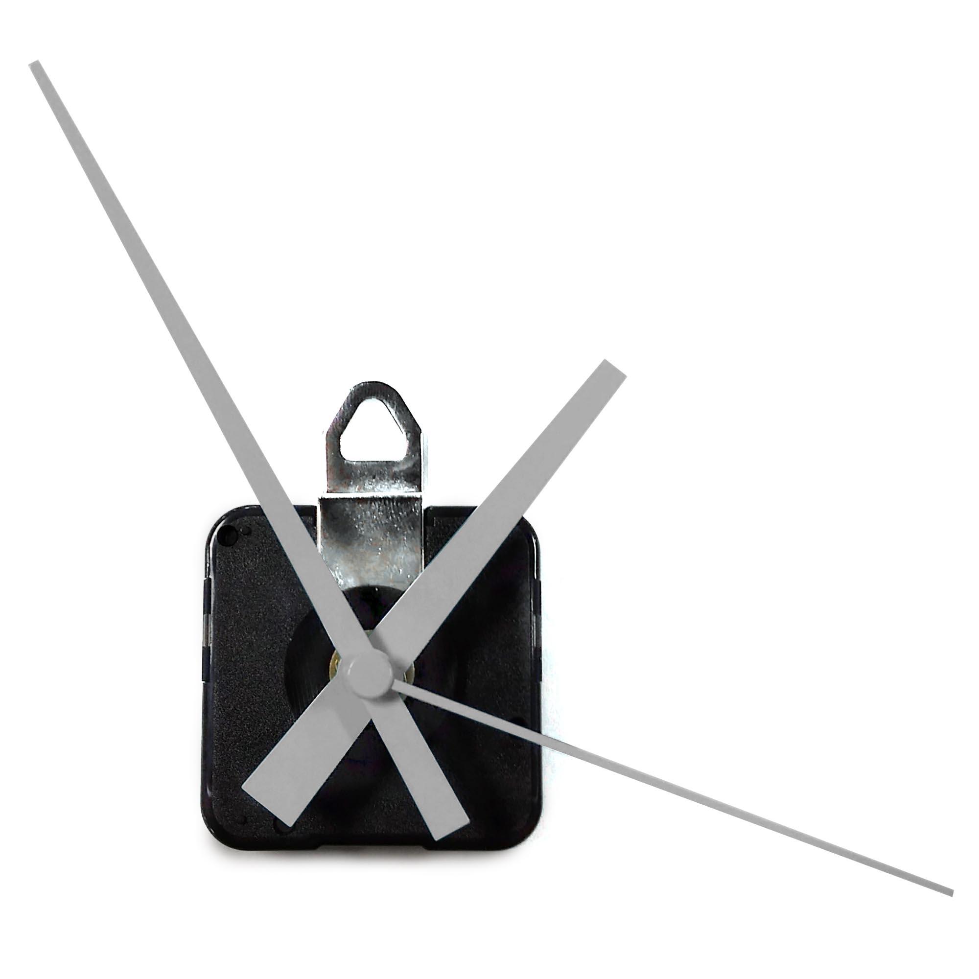 Replacement Clock Motor & Hands Set | Continuous-Sweep, High-Torque Mini Quartz Movement (Mid-Century Style Hands) - AC0001-MCM