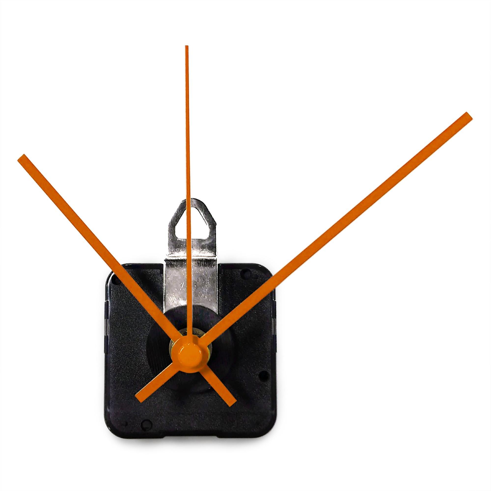 Replacement Clock Motor & Hands Set | Continuous-Sweep, High-Torque Mini Quartz Movement (Modern Style Hands) - AC0001-MOD