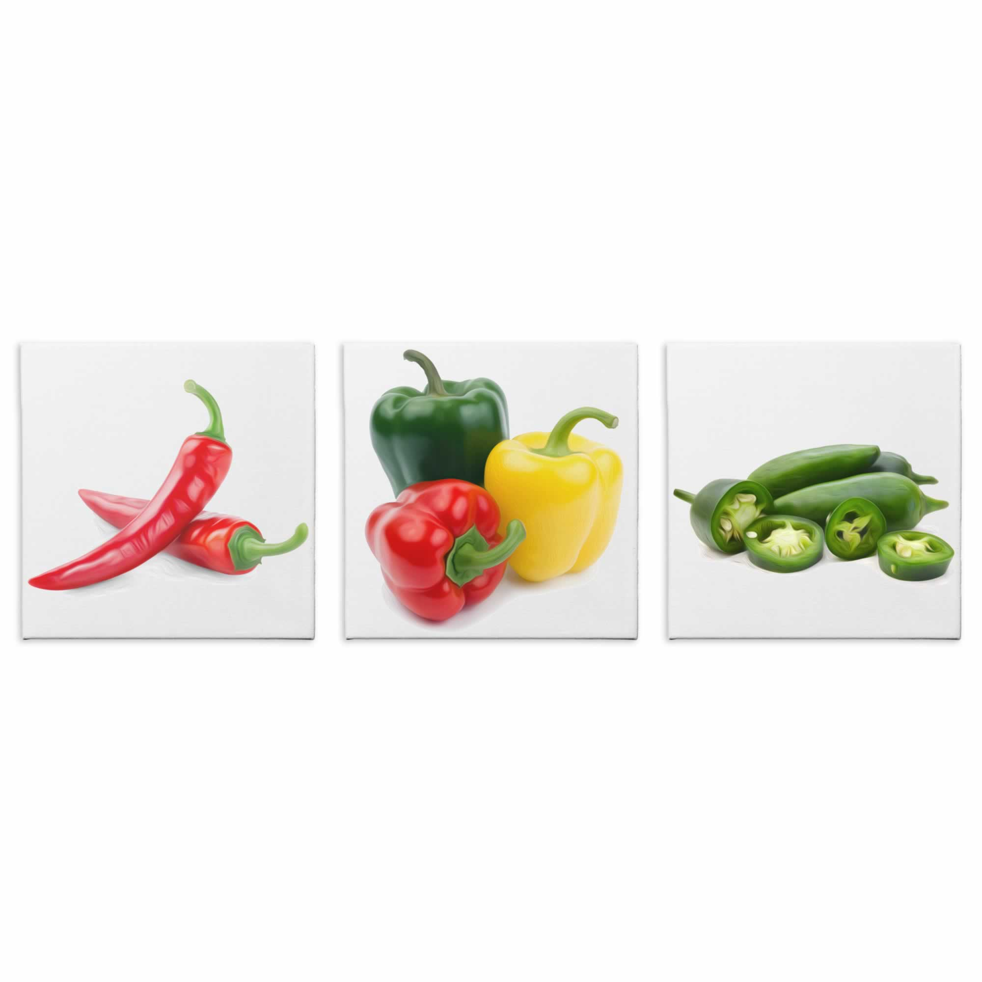 Peppers - Contemporary giclee Painting Print on Canvas
