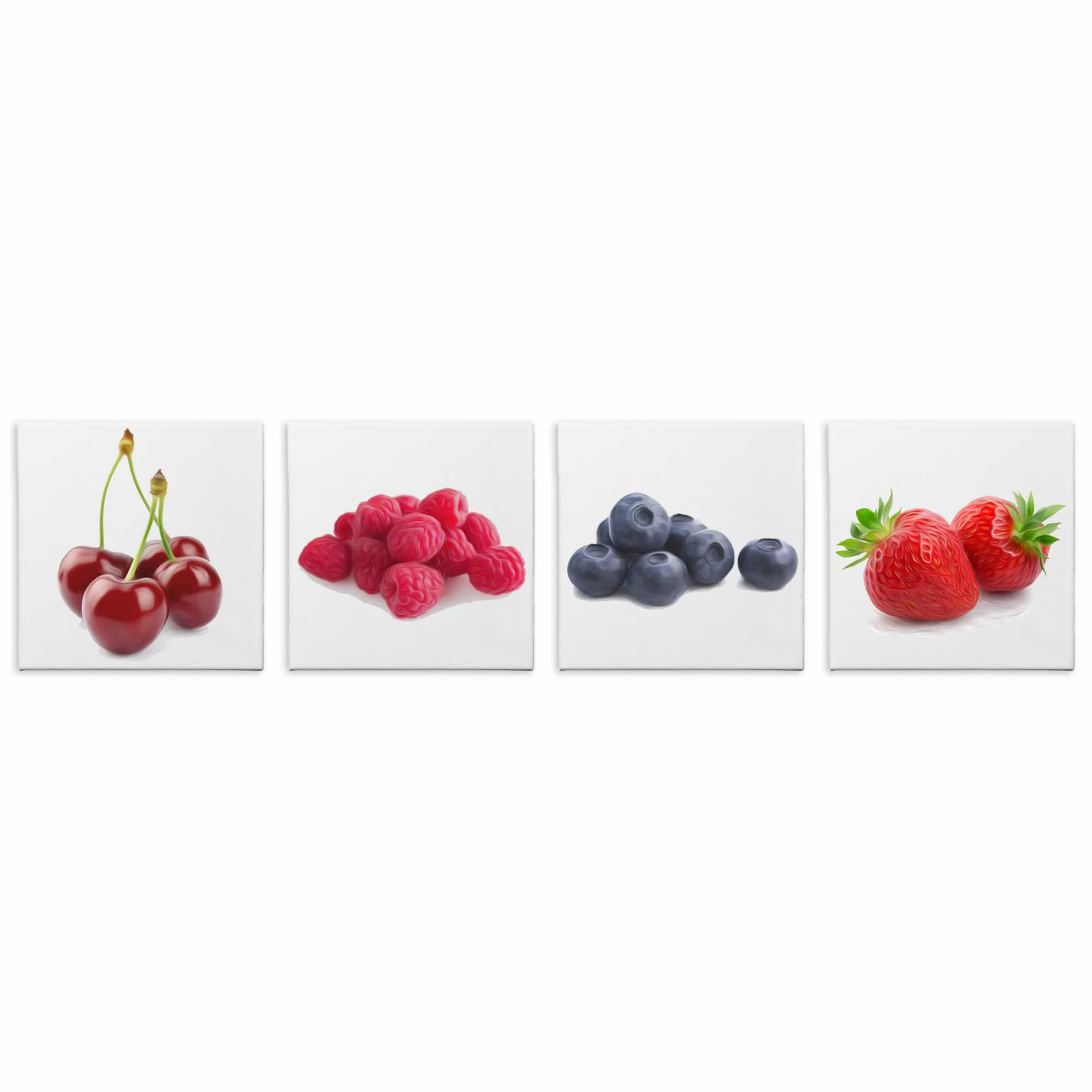 Tasty Berries - Contemporary giclee Painting Print on Canvas