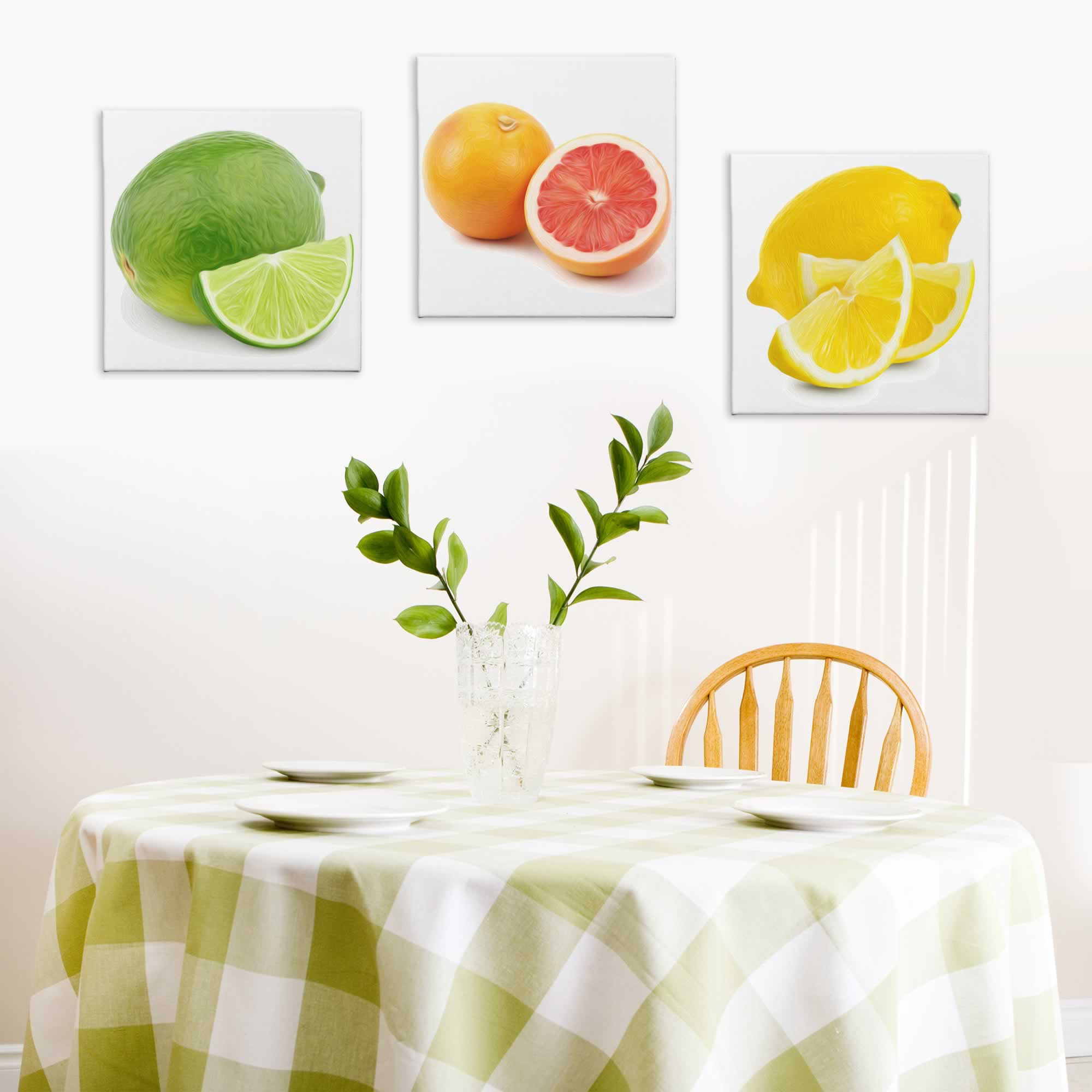 Citrus Zest - Contemporary giclee Painting Print on Canvas - Lifestyle Image