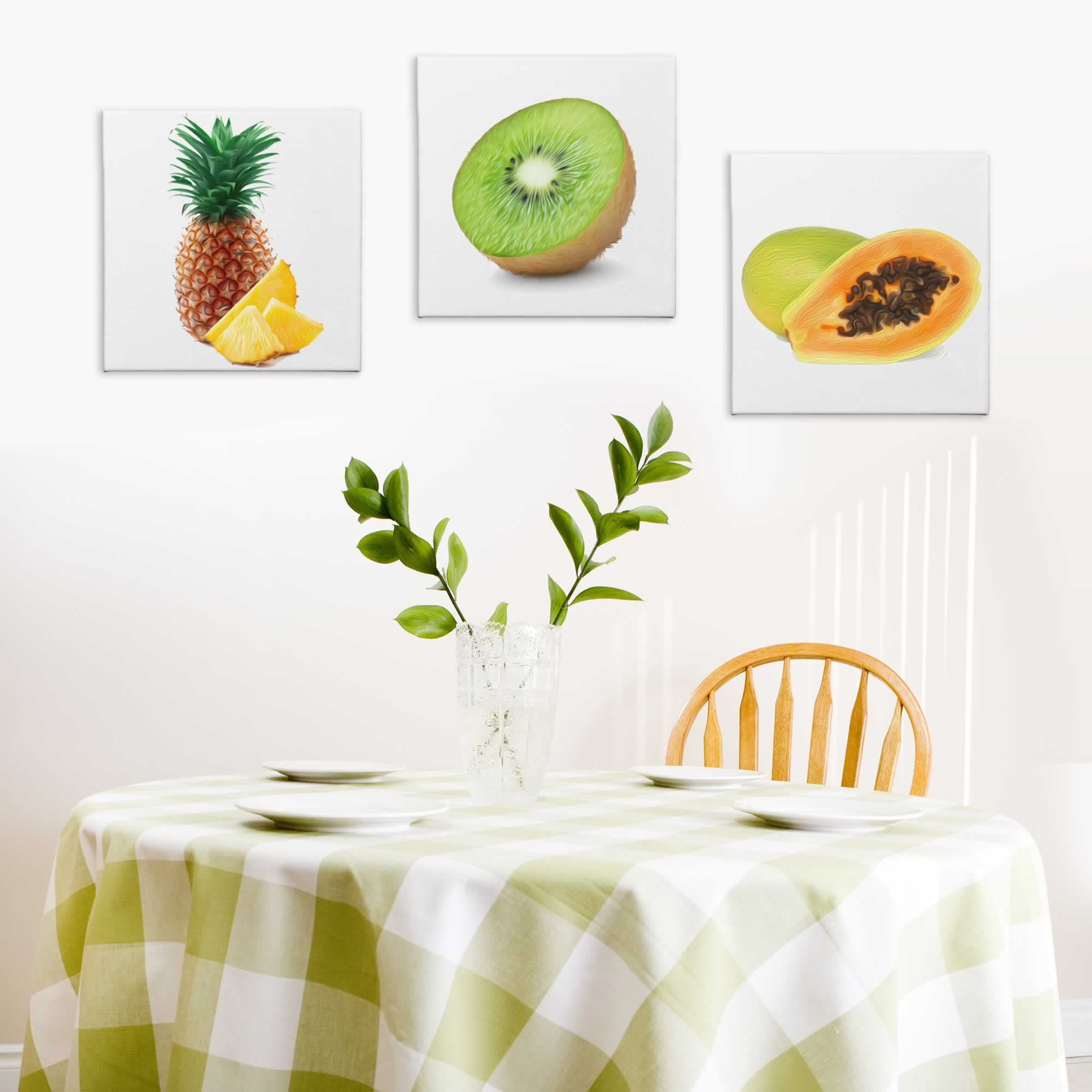 Tropical Fruits - Contemporary giclee Painting Print on Canvas - Lifestyle Image
