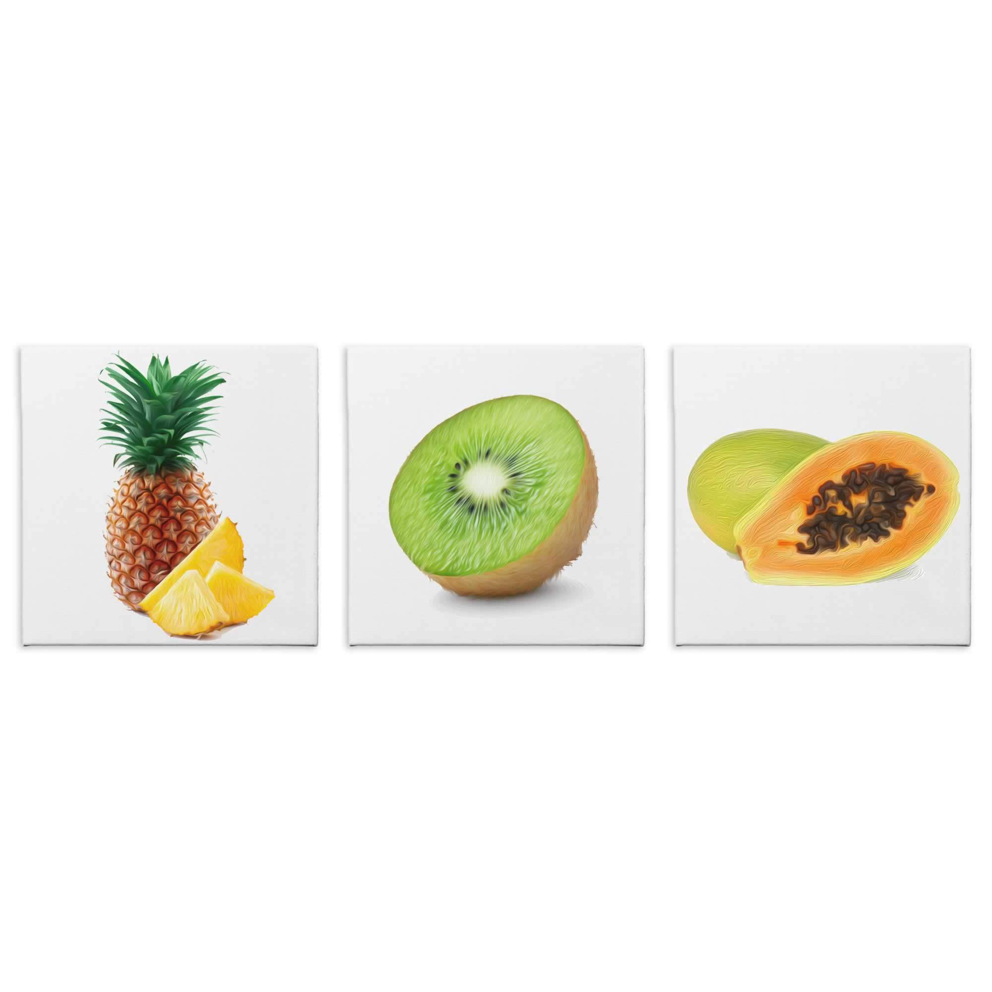 Tropical Fruits - Contemporary giclee Painting Print on Canvas