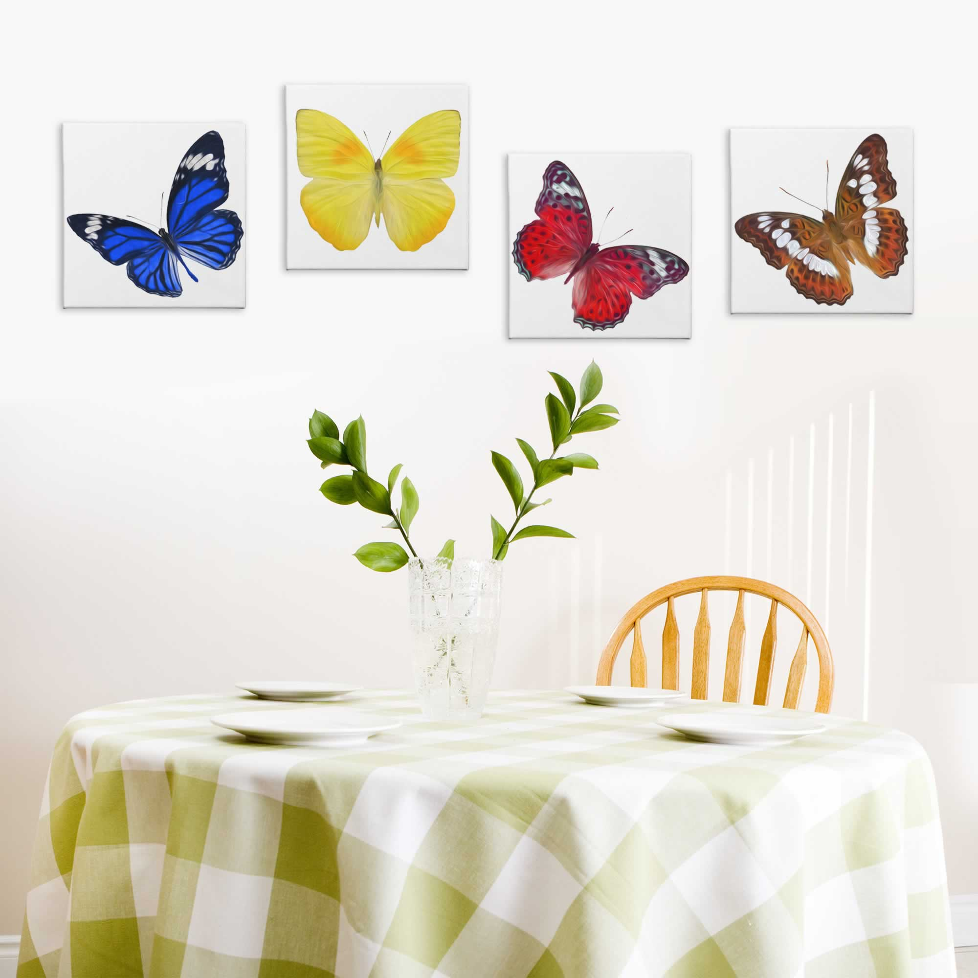 Butterflies - Contemporary giclee Painting Print on Canvas - Lifestyle Image