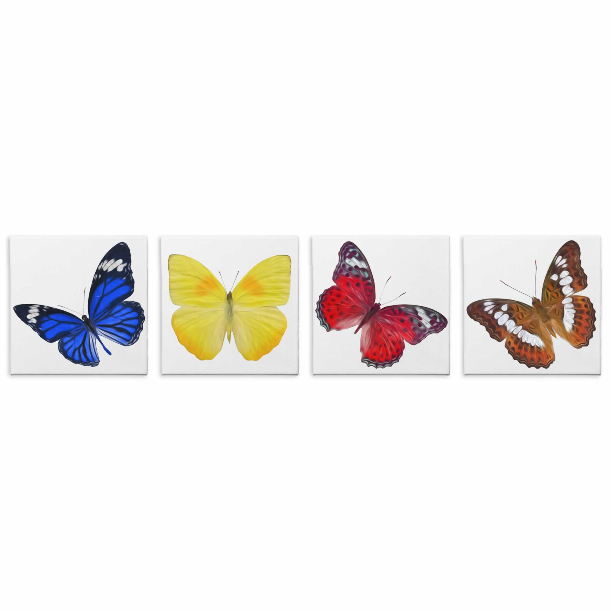 Butterflies - Contemporary giclee Painting Print on Canvas