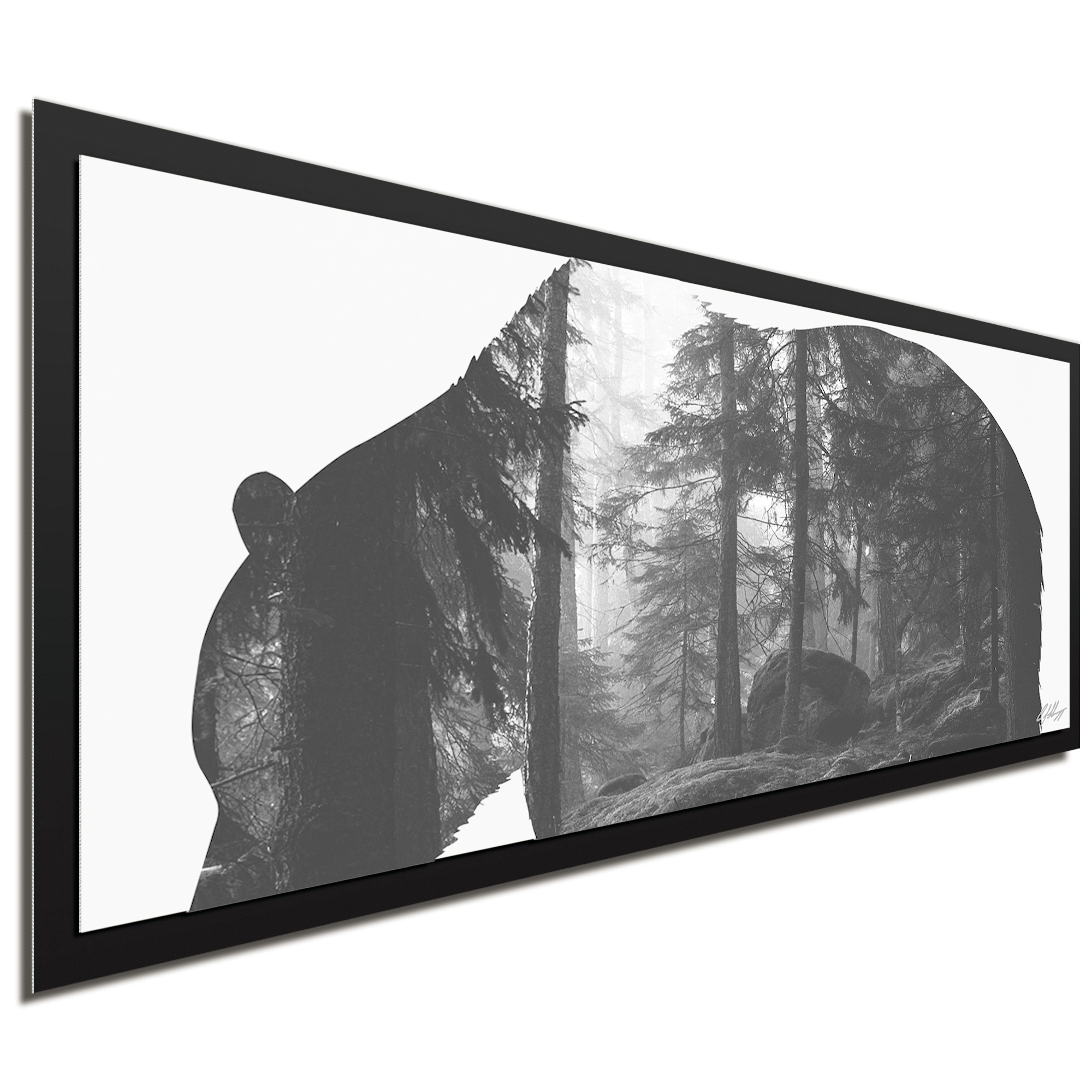 Grizzly Bear Forest Framed - Image 2