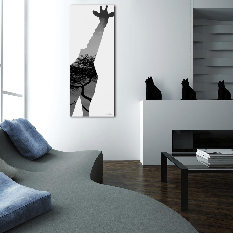 GIRAFFE SAVANNA - 48x19 in. Metal Animal Print - Lifestyle Image