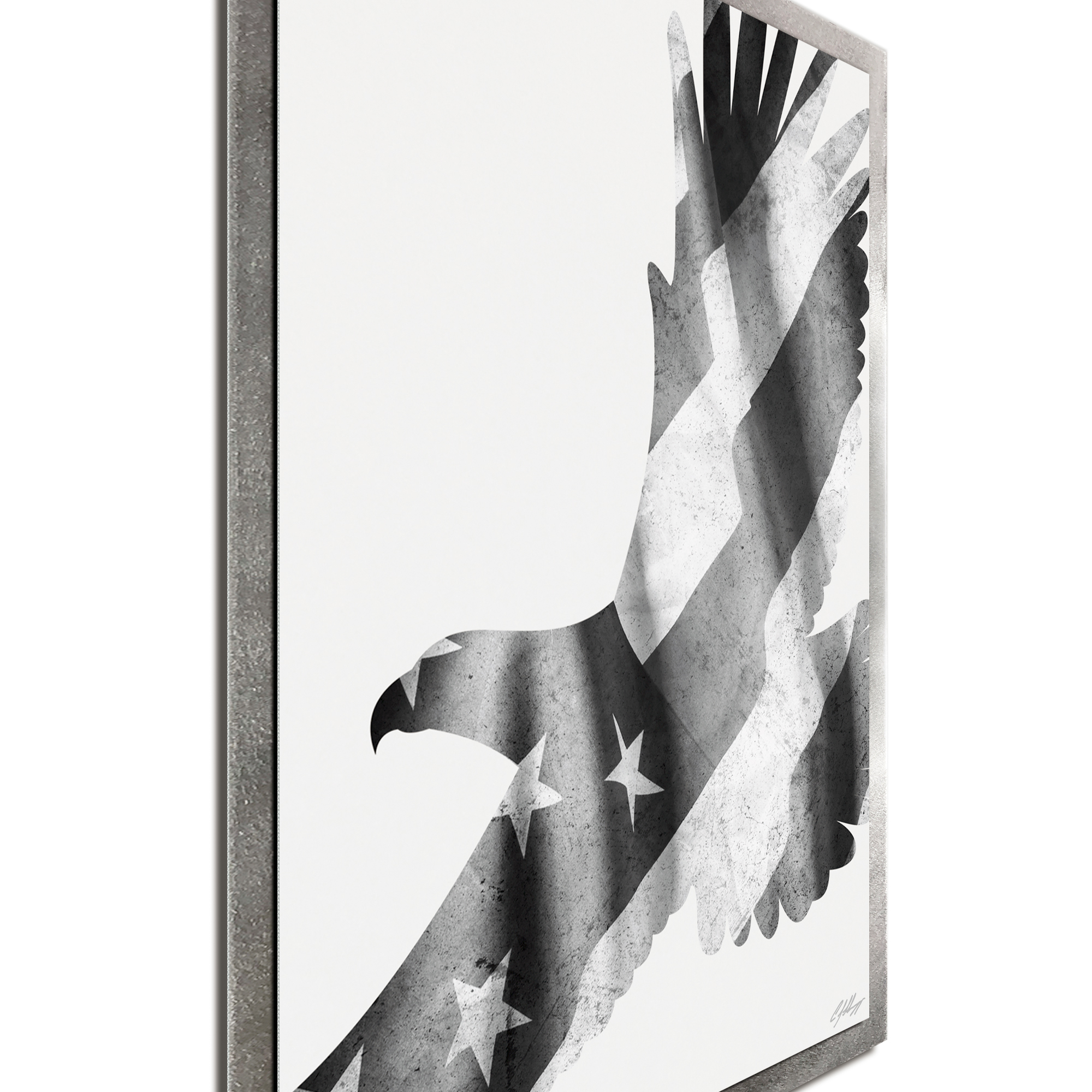 Freedom Eagle Black & White Framed - Image 2