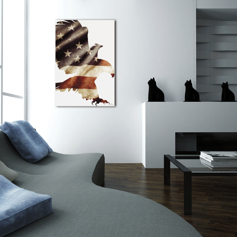 PATRIOT EAGLE - 32x22 in. Metal US Flag Print - Lifestyle Image