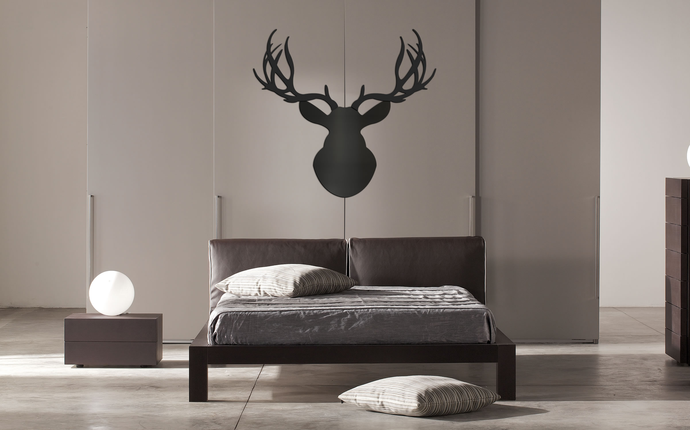 MIDNIGHT BUCK - 36x36 in. Pure Black Deer Cut-Out - Lifestyle Image