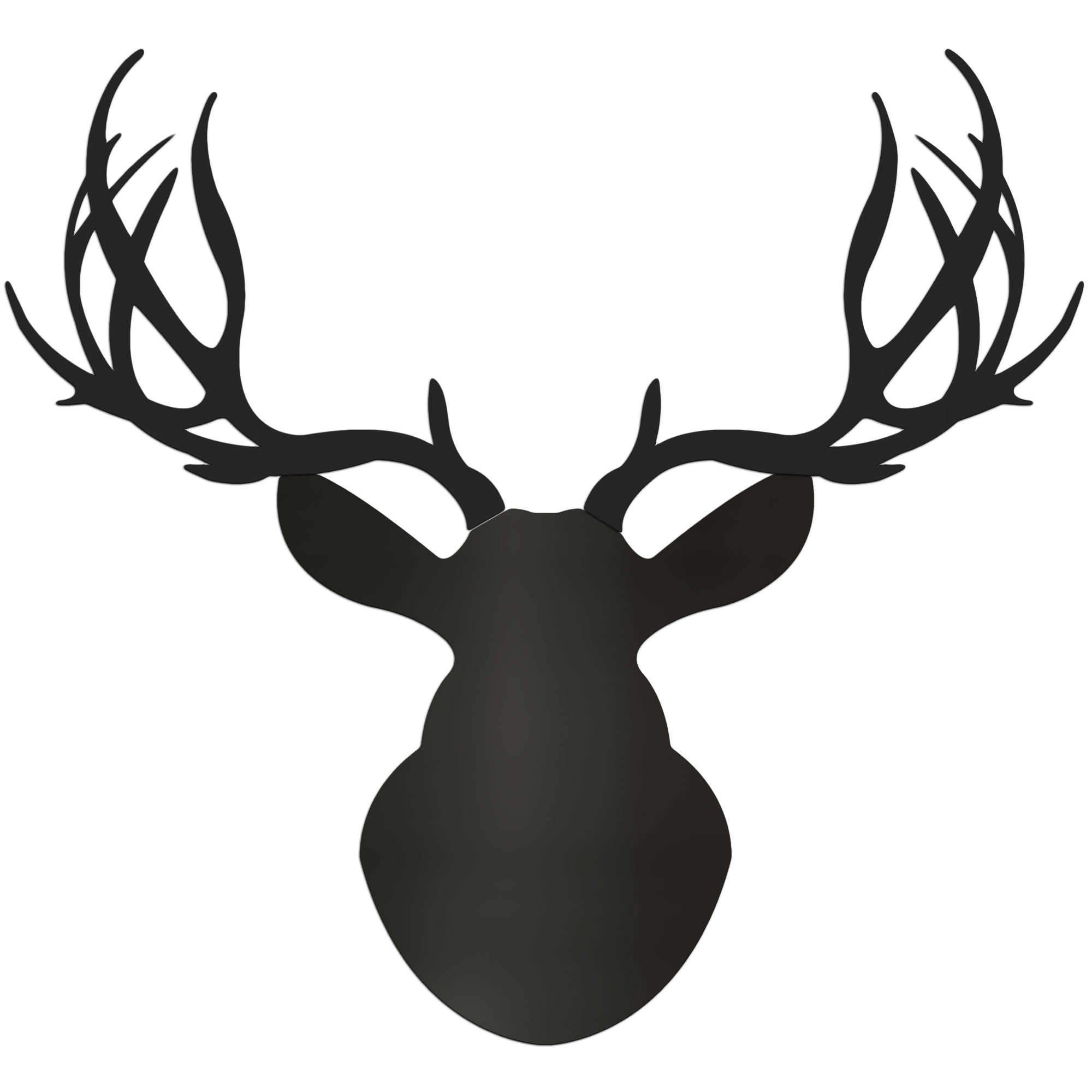 MIDNIGHT BUCK - 36x36 in. Pure Black Deer Cut-Out