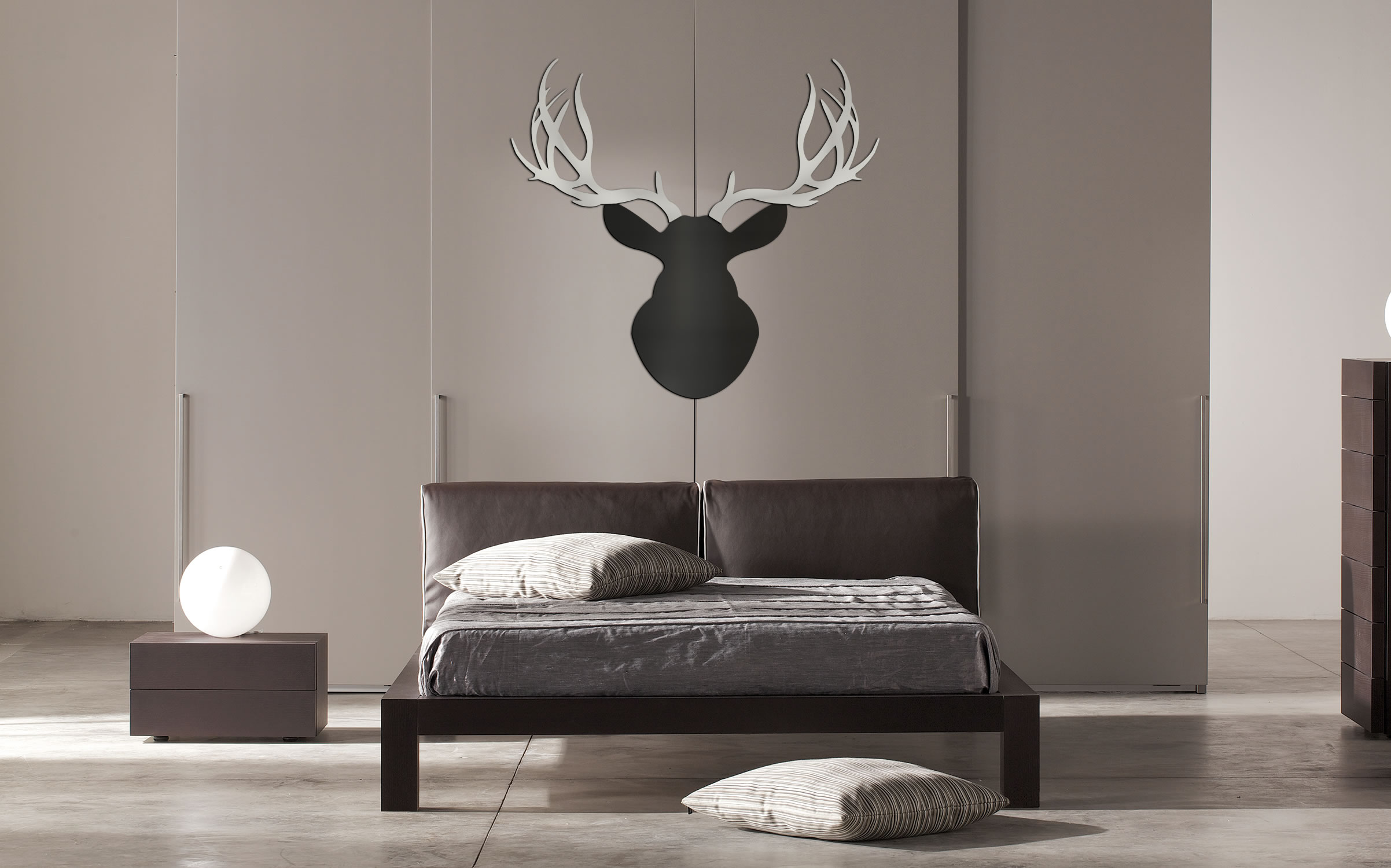 URBAN BUCK - 36x36 in. Black & Silver Deer Cut-Out - Lifestyle Image