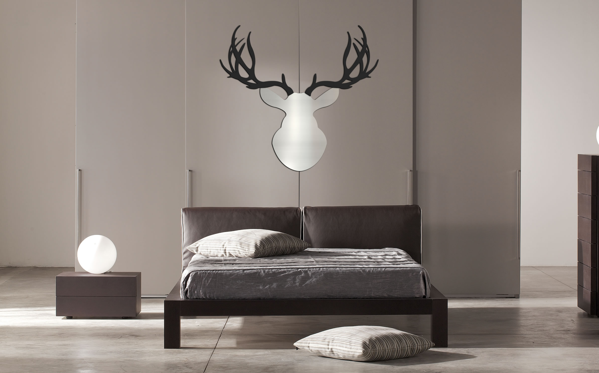 ENFORCER BUCK - 36x36 in. Silver & Black Deer Cut-Out - Lifestyle Image