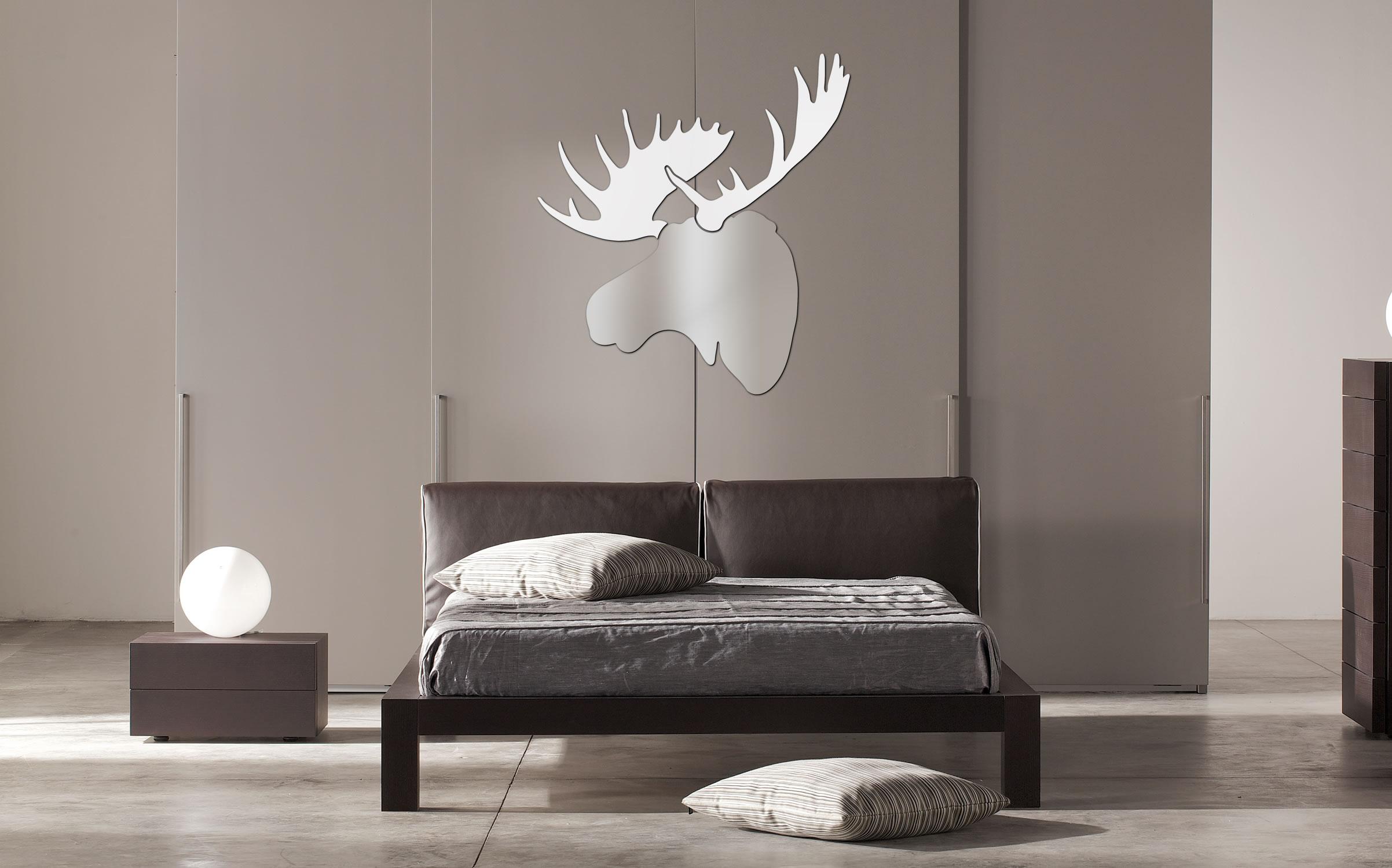 WINTER MOOSE - 36x36 in. Silver & White Decor - Lifestyle Image