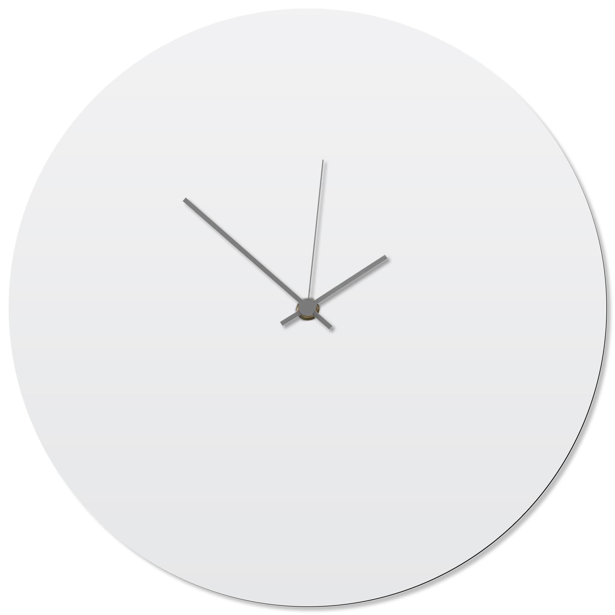Whiteout Grey Circle Clock 16x16in. Aluminum Polymetal