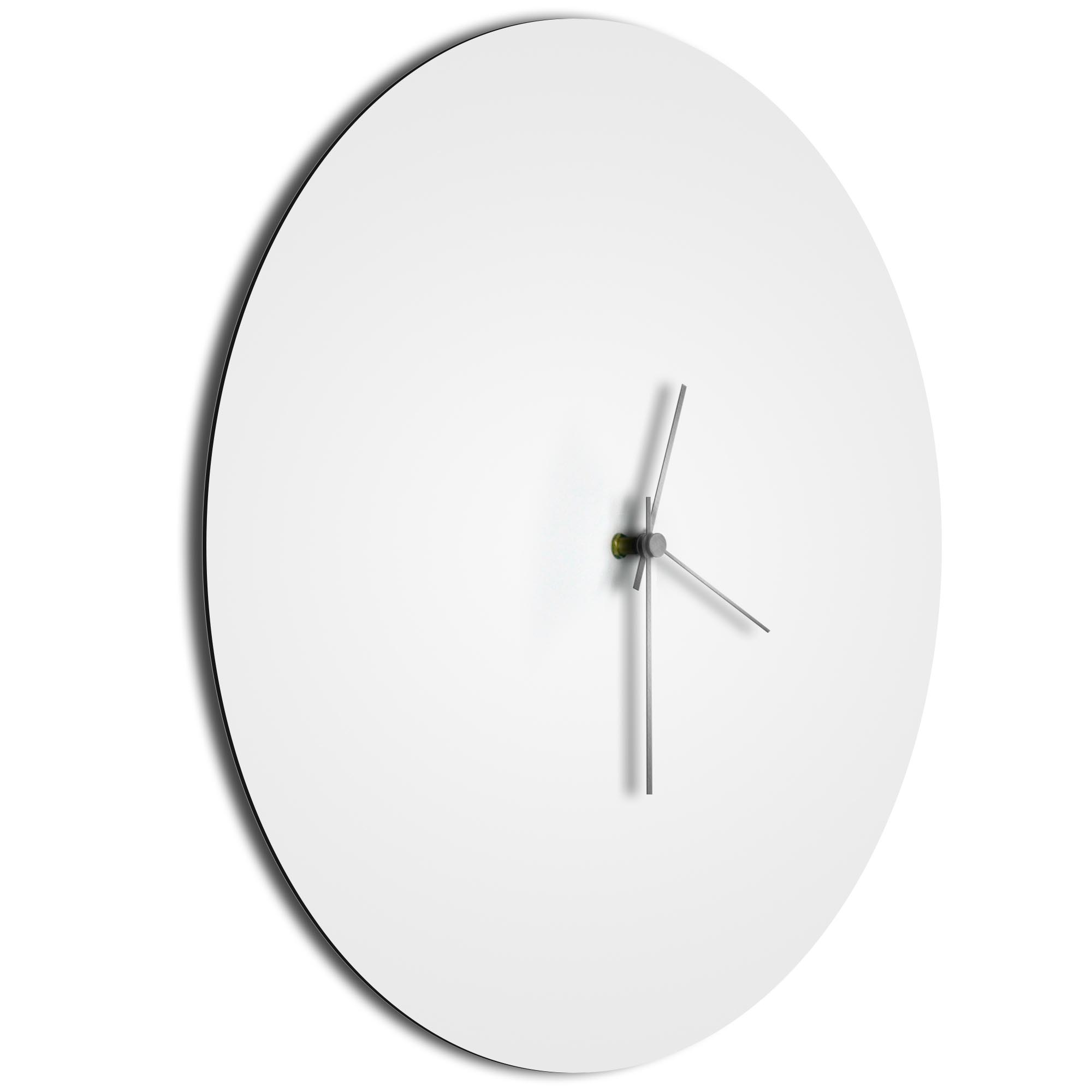 Whiteout Silver Circle Clock Large - Image 2