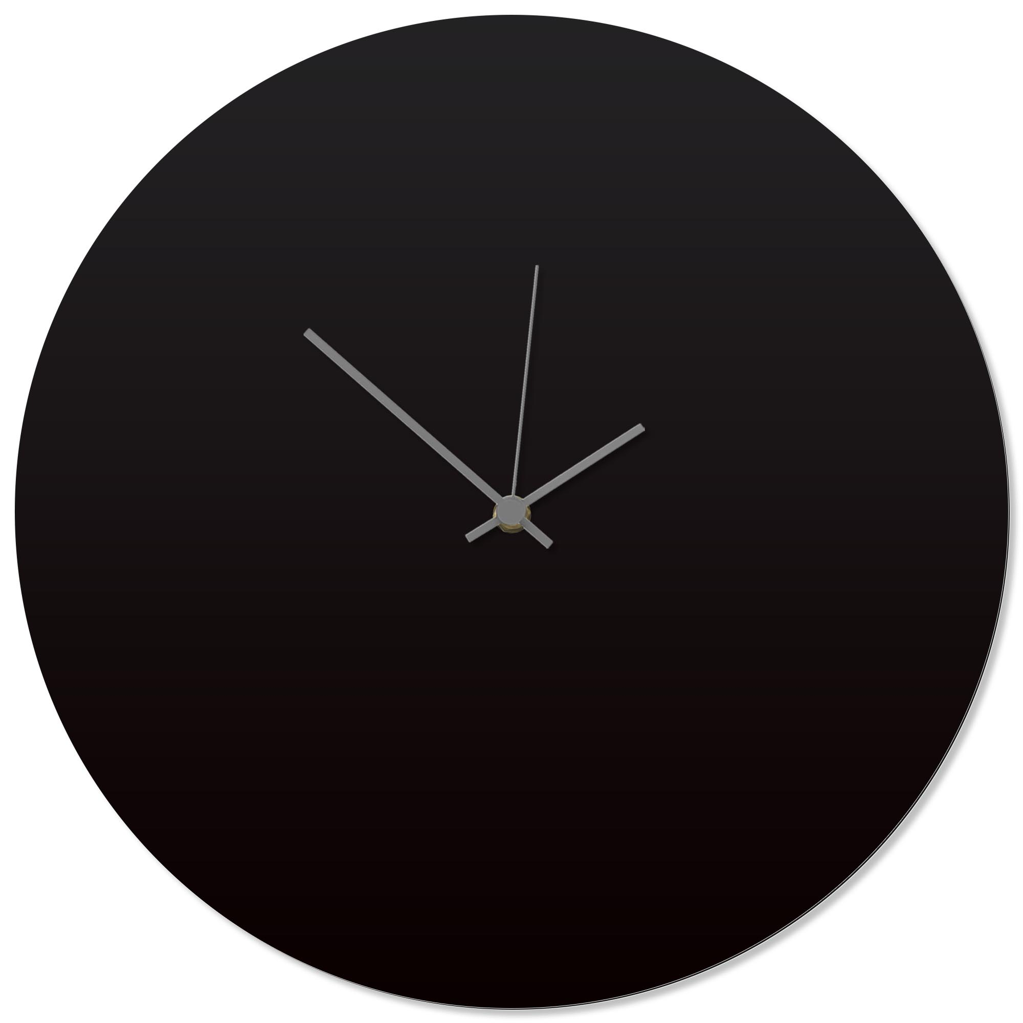 Blackout Grey Circle Clock 16x16in. Aluminum Polymetal