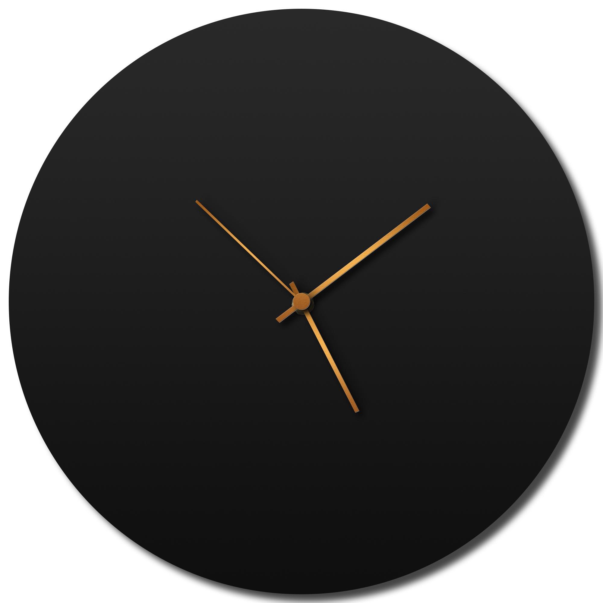 Adam Schwoeppe 'Blackout Bronze Circle Clock Large' Midcentury Modern Style Wall Clock