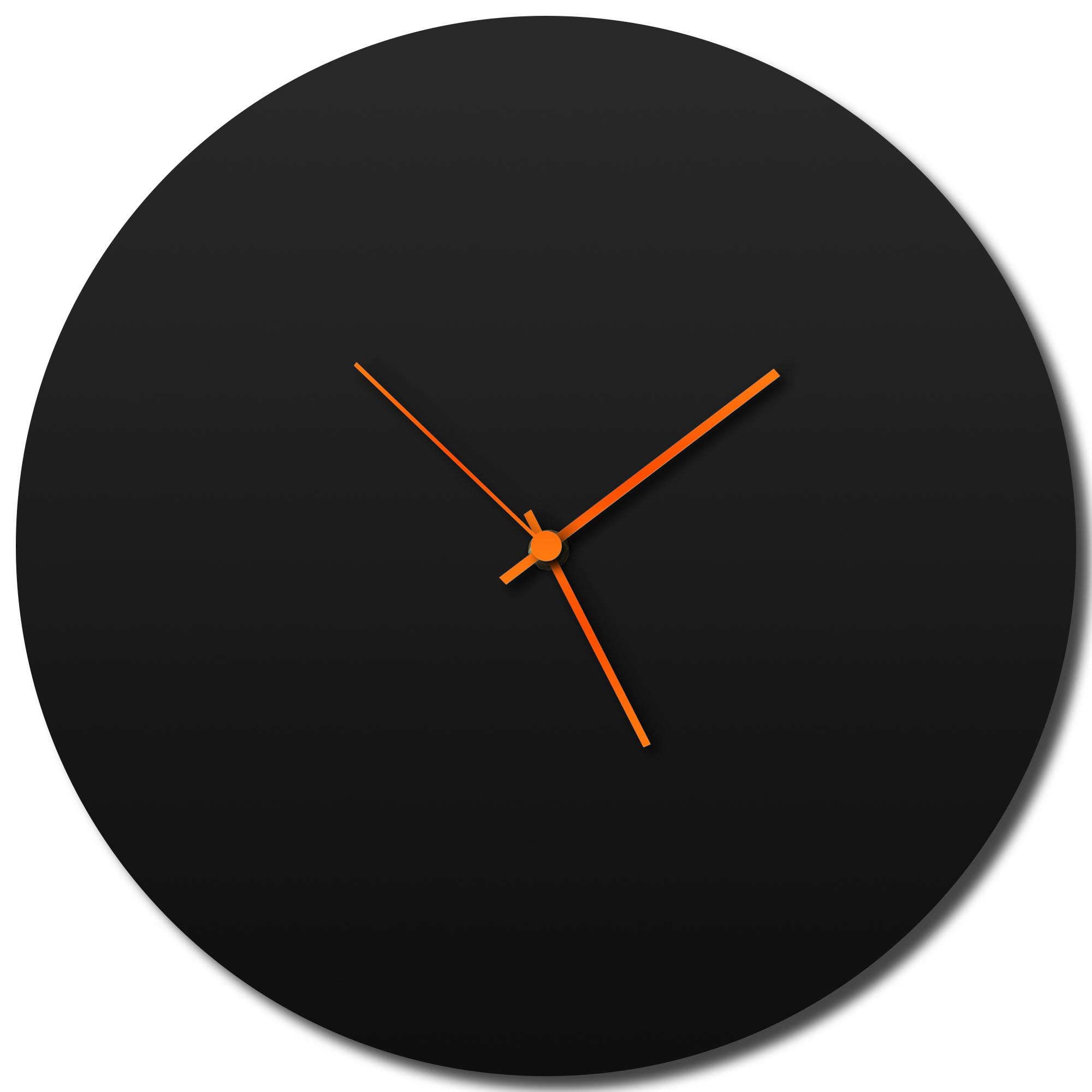 Blackout Circle Clock Large by Adam Schwoeppe - Minimalist Modern Black Metal Clock