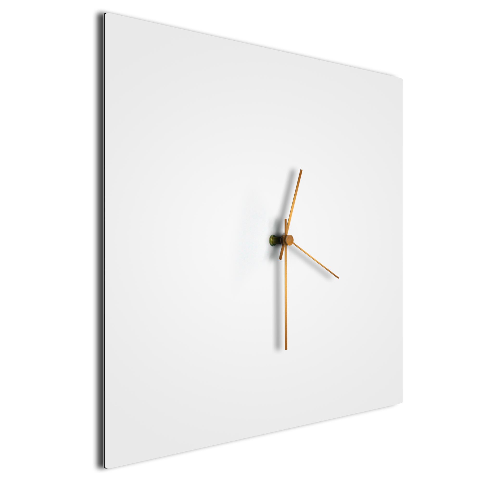 Whiteout Bronze Square Clock - Image 2
