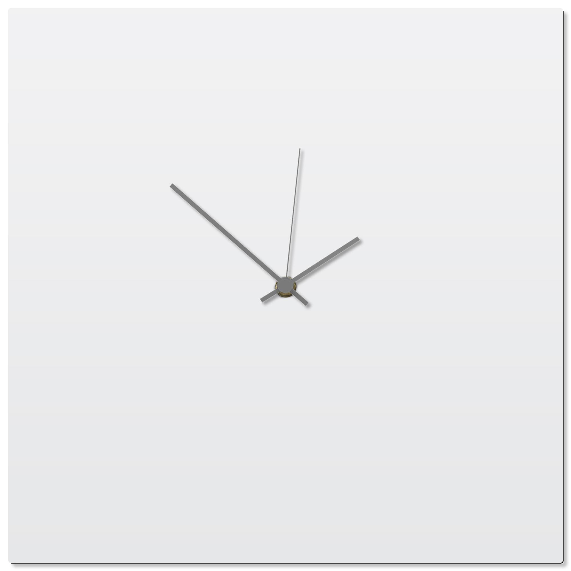 Whiteout Grey Square Clock 16x16in. Aluminum Polymetal