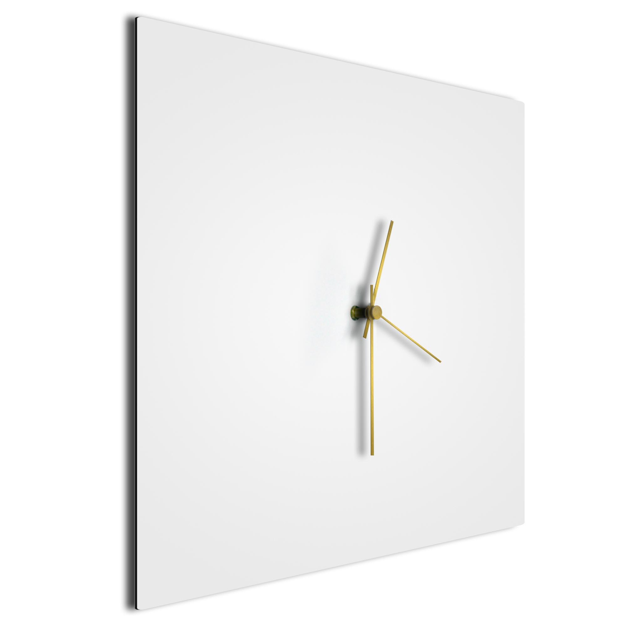 Whiteout Gold Square Clock Large - Image 2