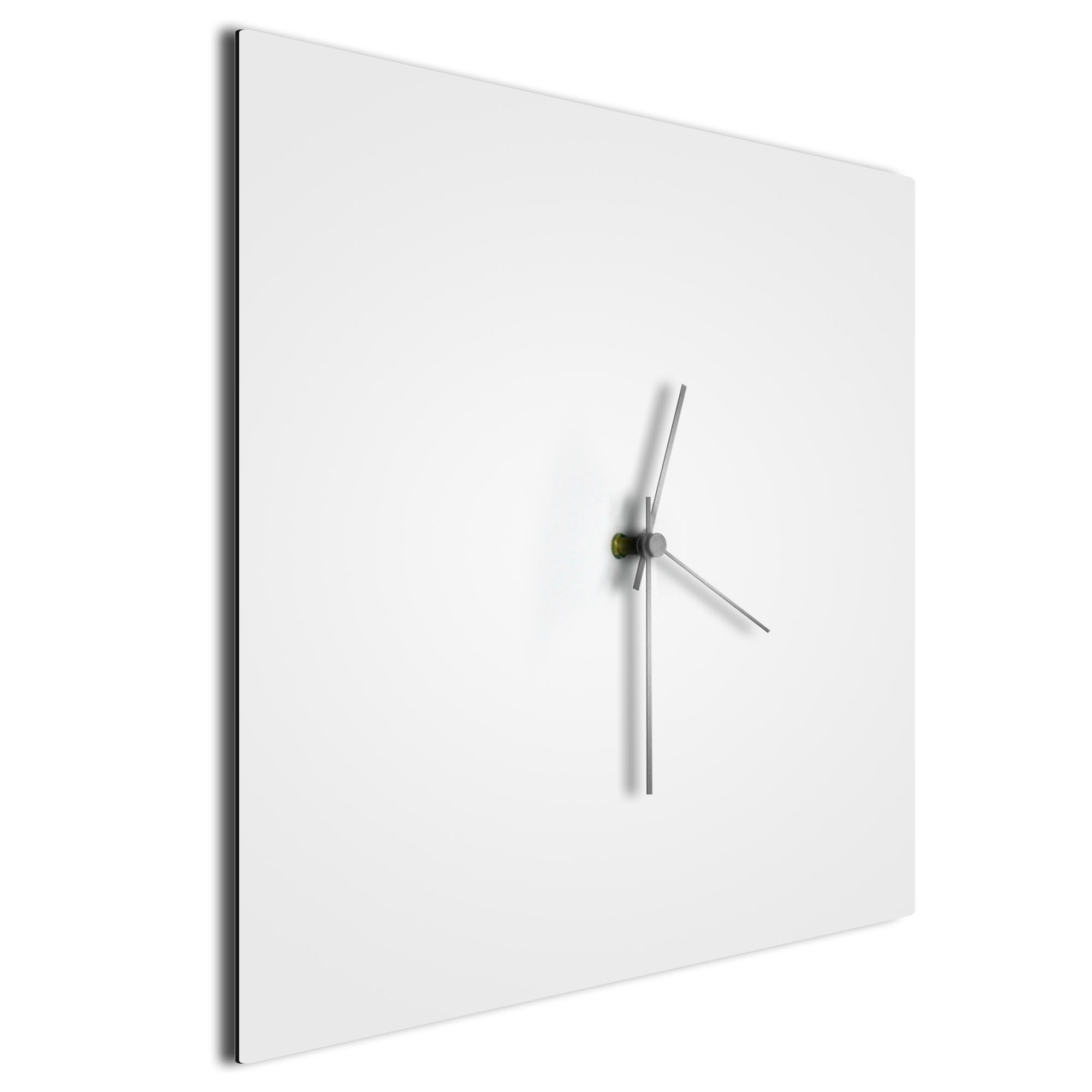 Whiteout Silver Square Clock - Image 2