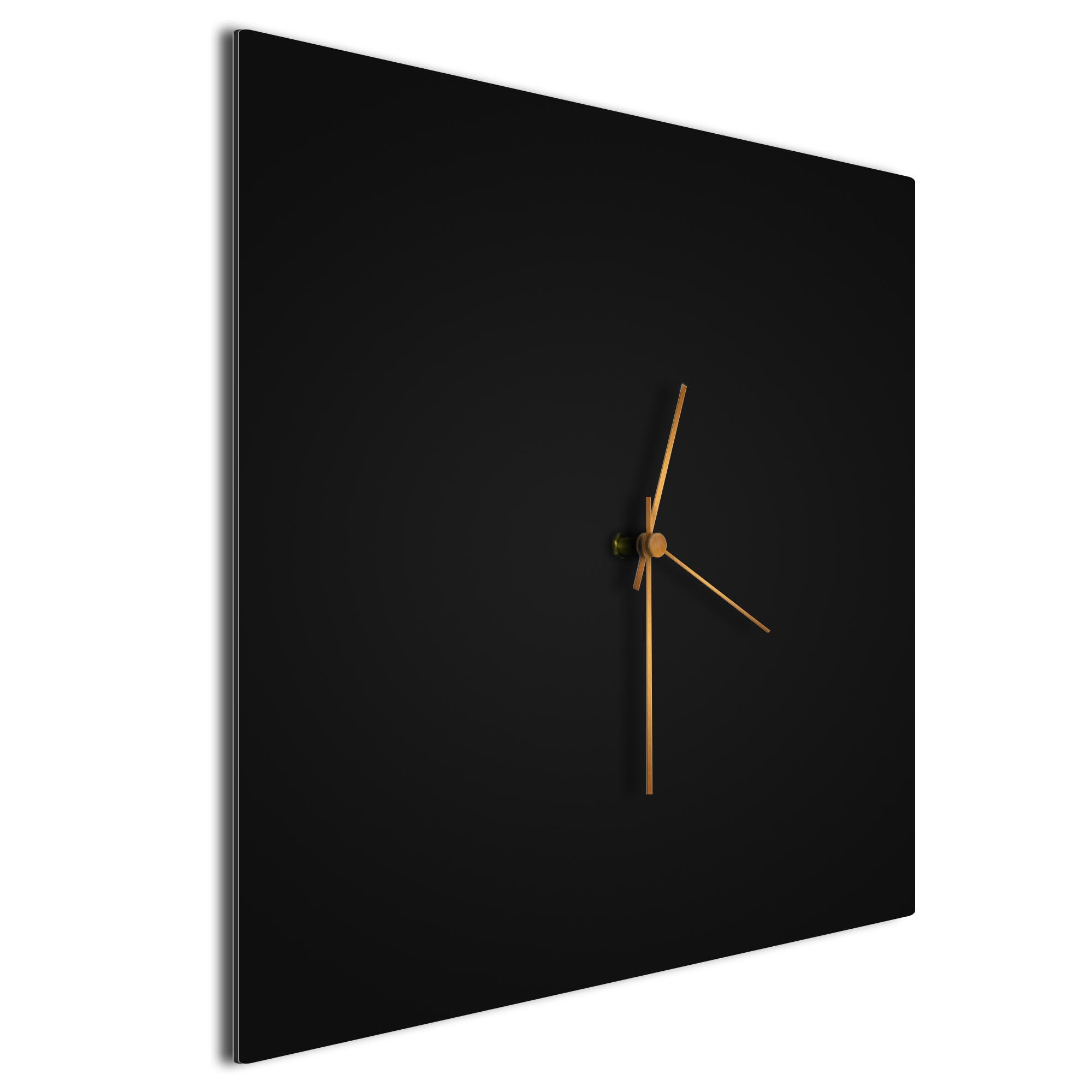 Blackout Bronze Square Clock Large - Image 2