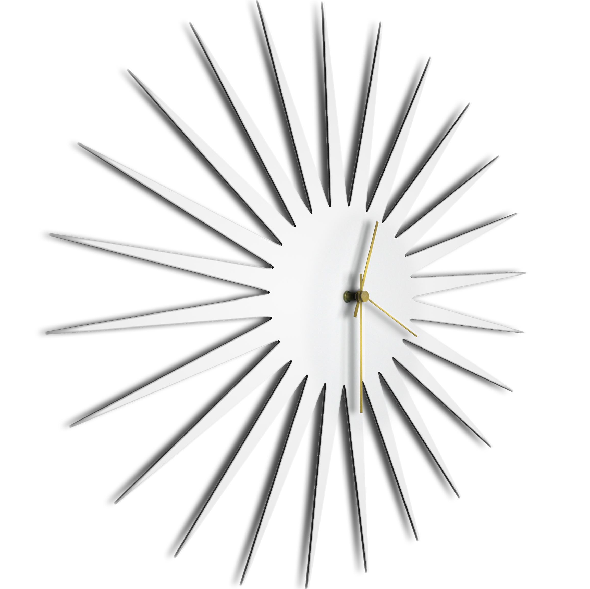 MCM Starburst Clock White Gold - Image 2