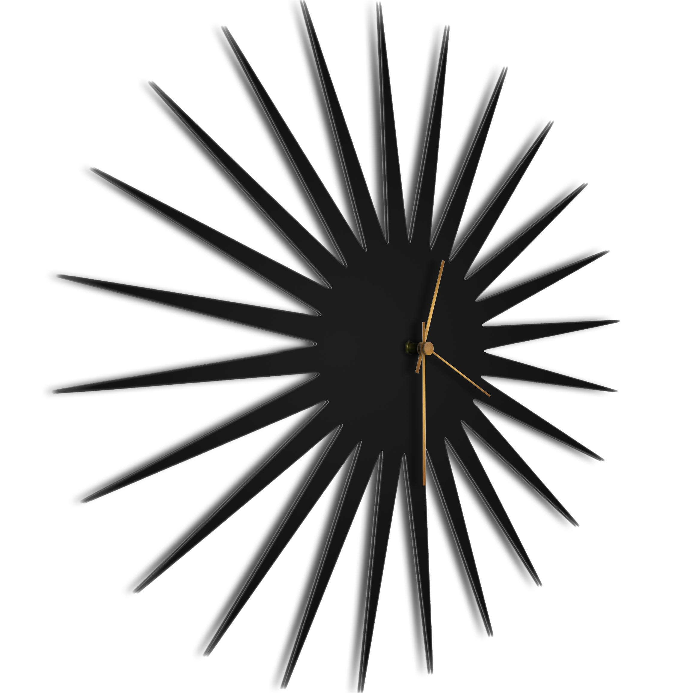 MCM Starburst Clock Black Bronze - Image 2