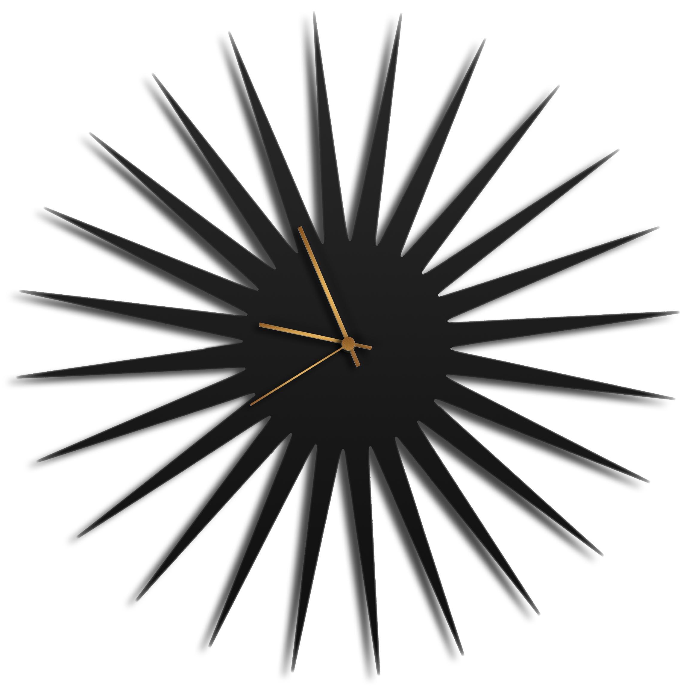Adam Schwoeppe 'MCM Starburst Clock Black Bronze' Midcentury Modern Style Wall Clock