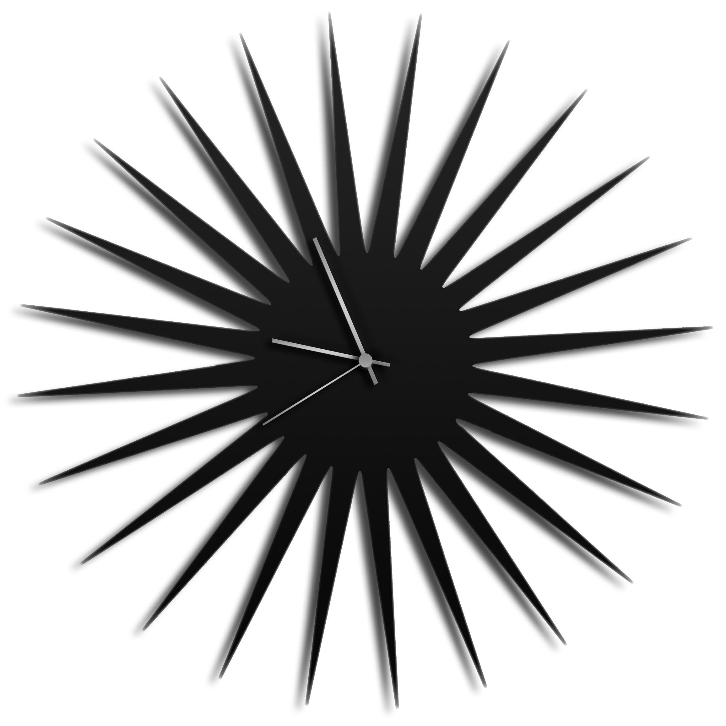 Adam Schwoeppe 'MCM Starburst Clock Black Silver' Midcentury Modern Style Wall Clock
