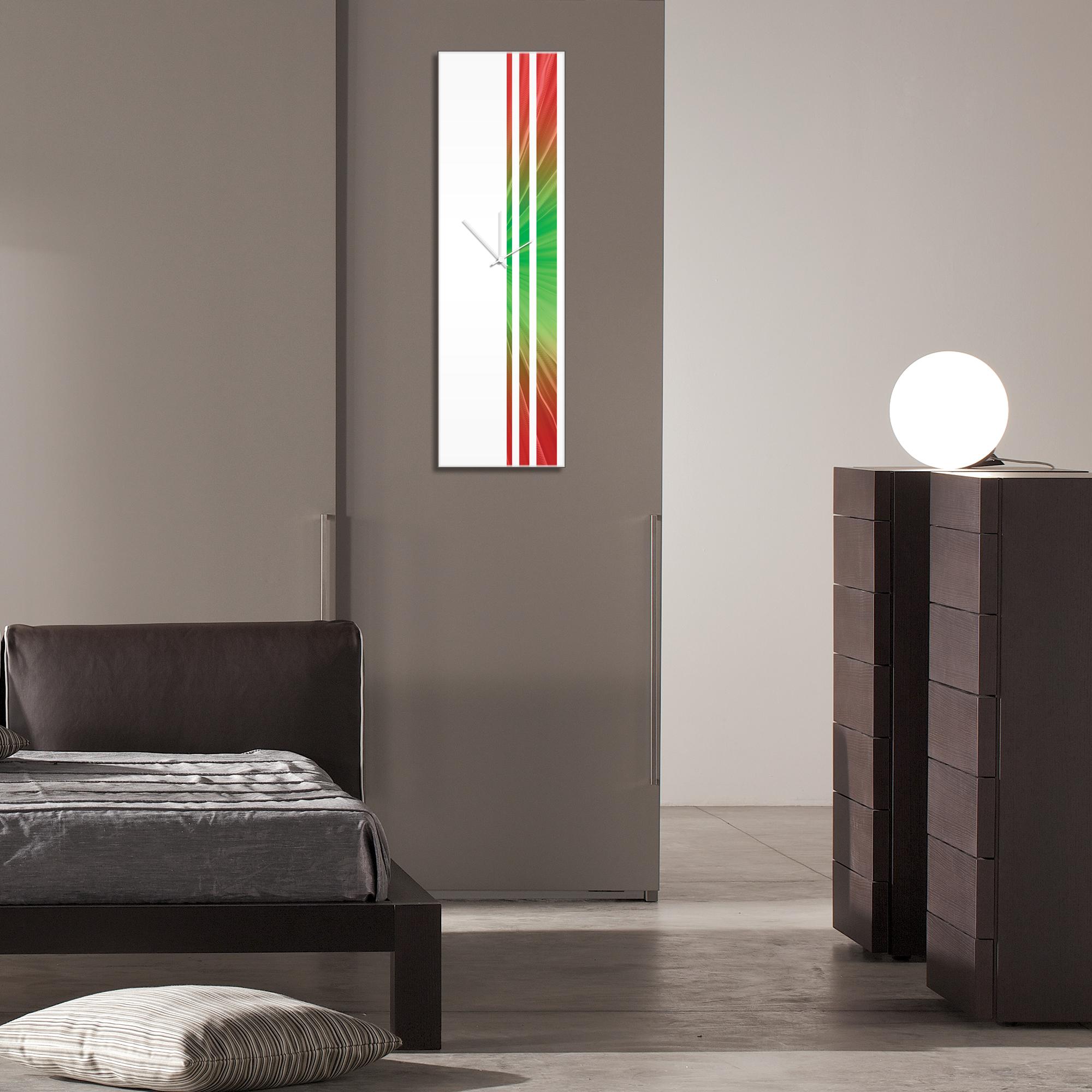 Bloom Triple Stripe Clock by Adam Schwoeppe Large Modern Clock on Acrylic - Alternate View 3