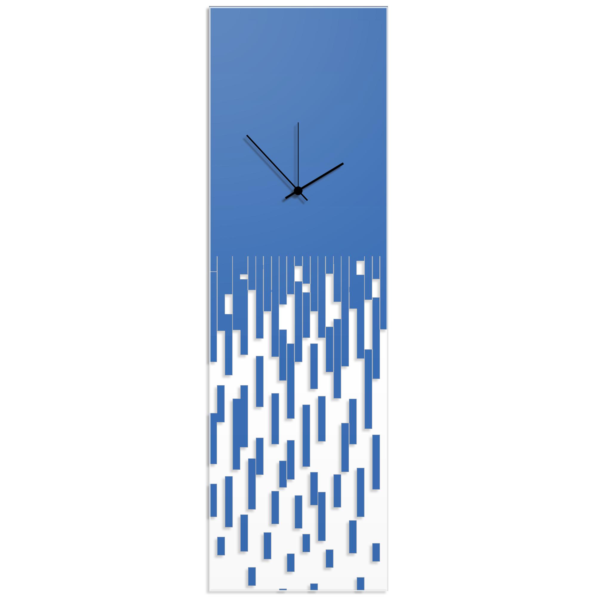 Blue Pixelated Clock by Adam Schwoeppe Surreal Wall Clock on Acrylic