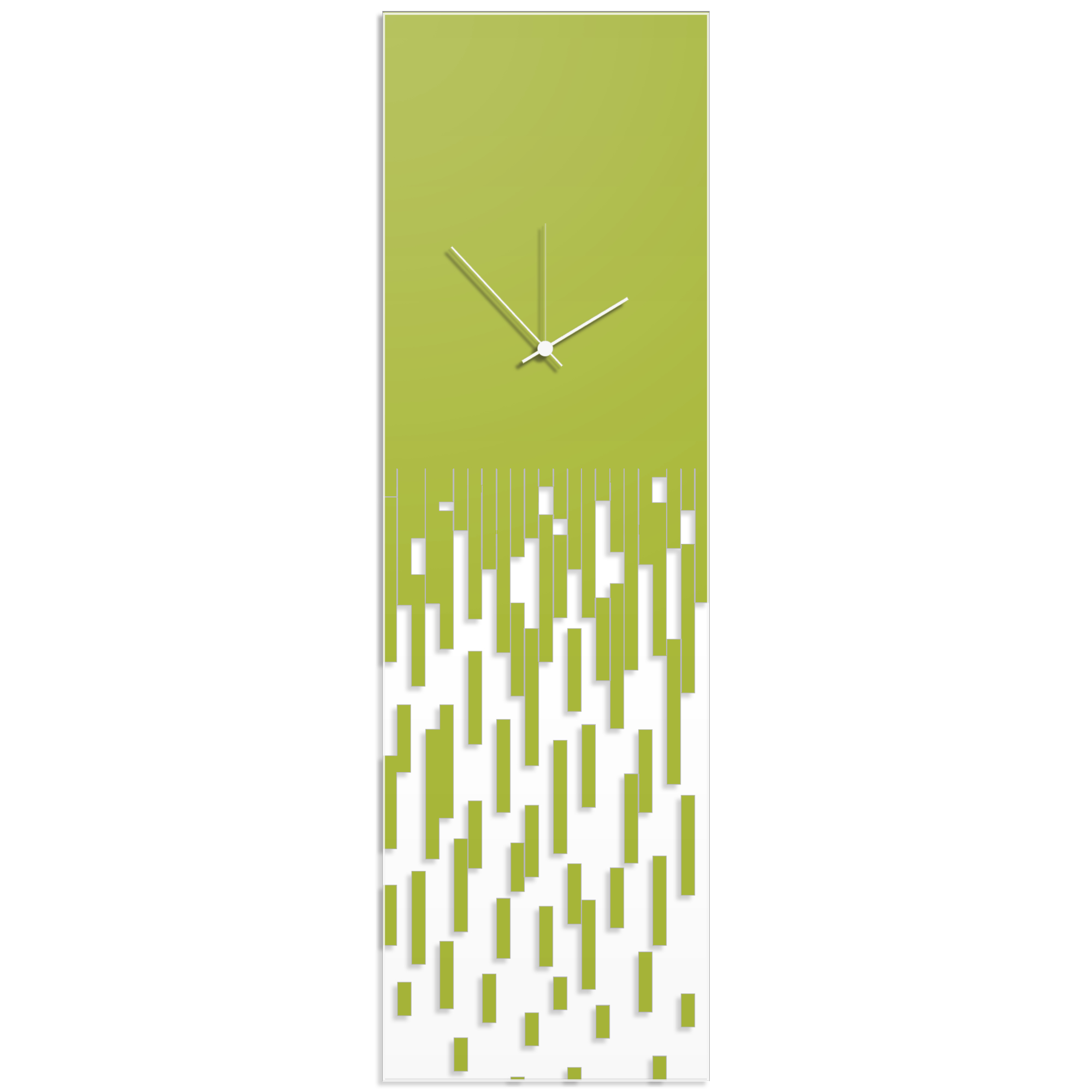 Metal Art Studio - Green Pixelated Clock by Adam Schwoeppe - Surreal ...