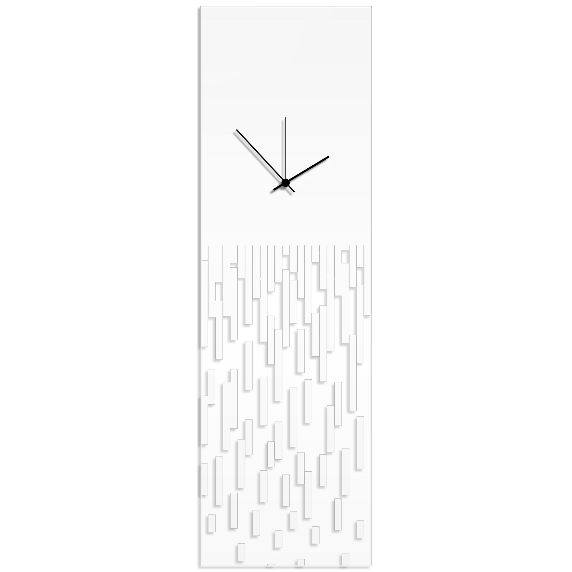 White Pixelated Clock by Adam Schwoeppe Surreal Wall Clock on Acrylic