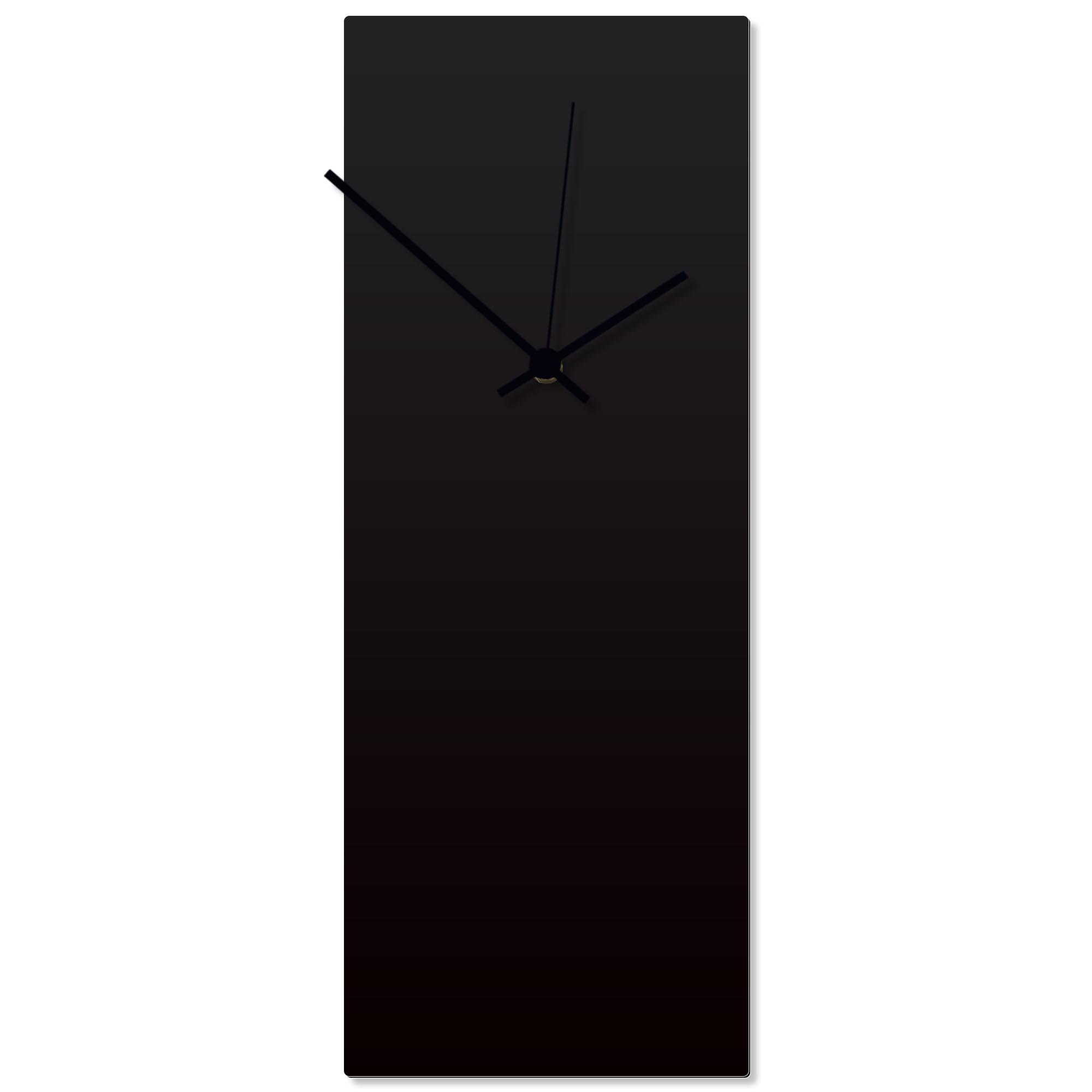 Blackout Black Clock Large 8.25x22in. Aluminum Polymetal